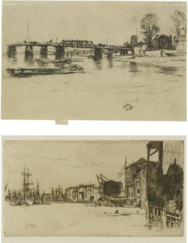 James Abbott McNeill Whistler-Free Trade Wharf And Fulham: Two Prints (K. 163, 182; G. 171, 181)-1879
