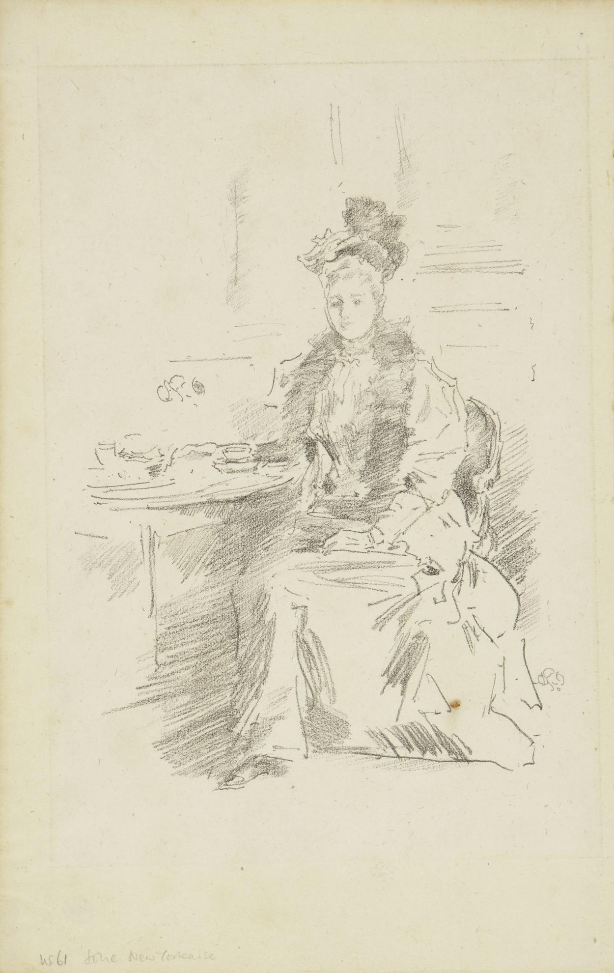 James Abbott McNeill Whistler-La Jolie New Yorkaise (Spink/Stratis/Tedeschi 99)-1894