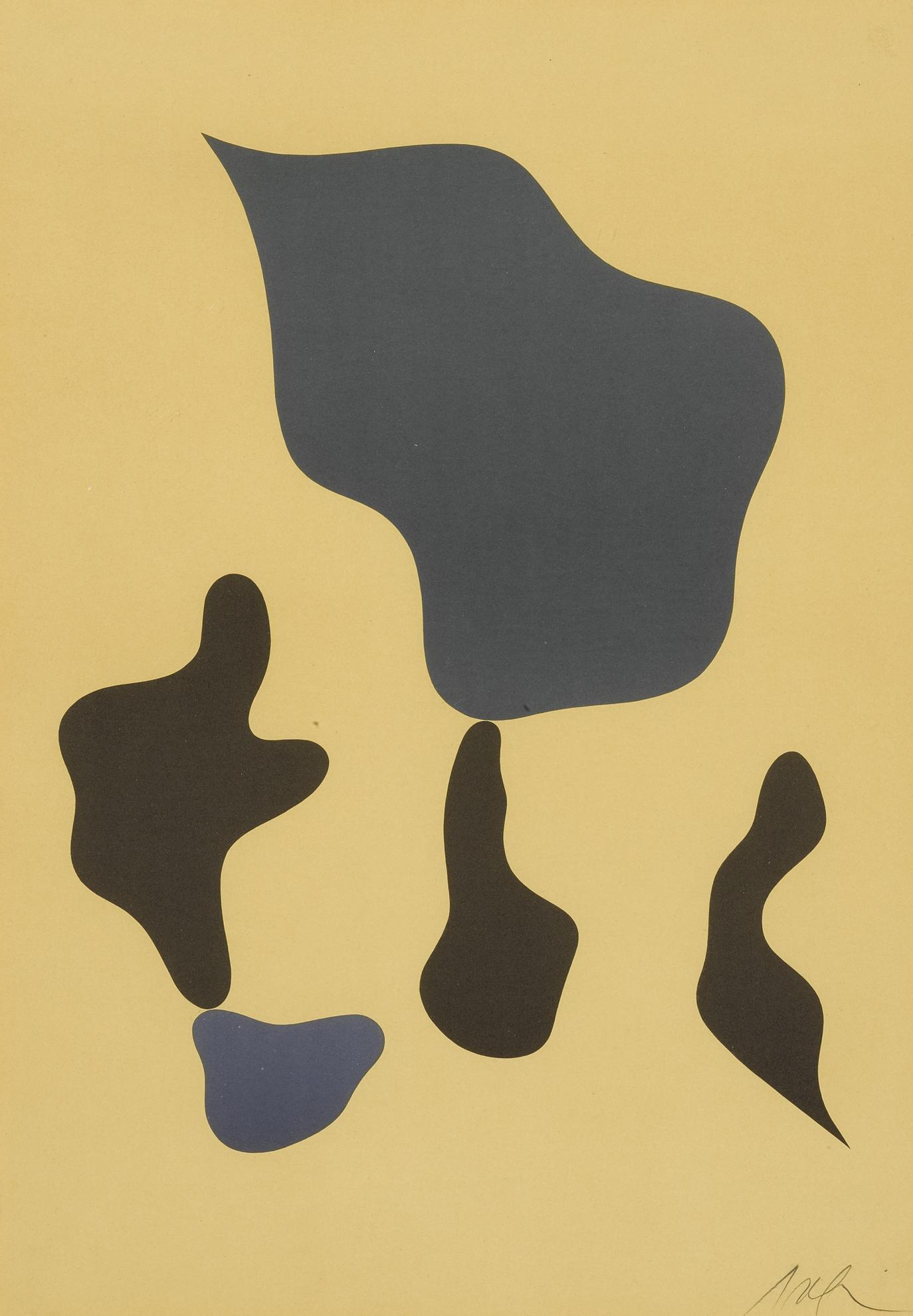 Jean Arp-Composition Mit Funf Formen; And Compositon (Arntz 358 & 362)-1966