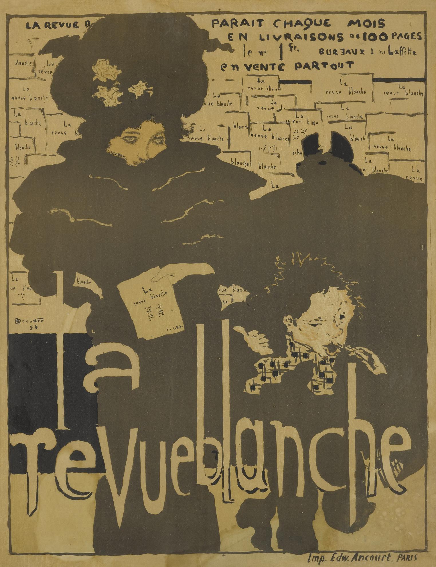 Pierre Bonnard-La Revue Blanche; And Les Peintres Graveurs (Bouvet 30 & 38)-1896