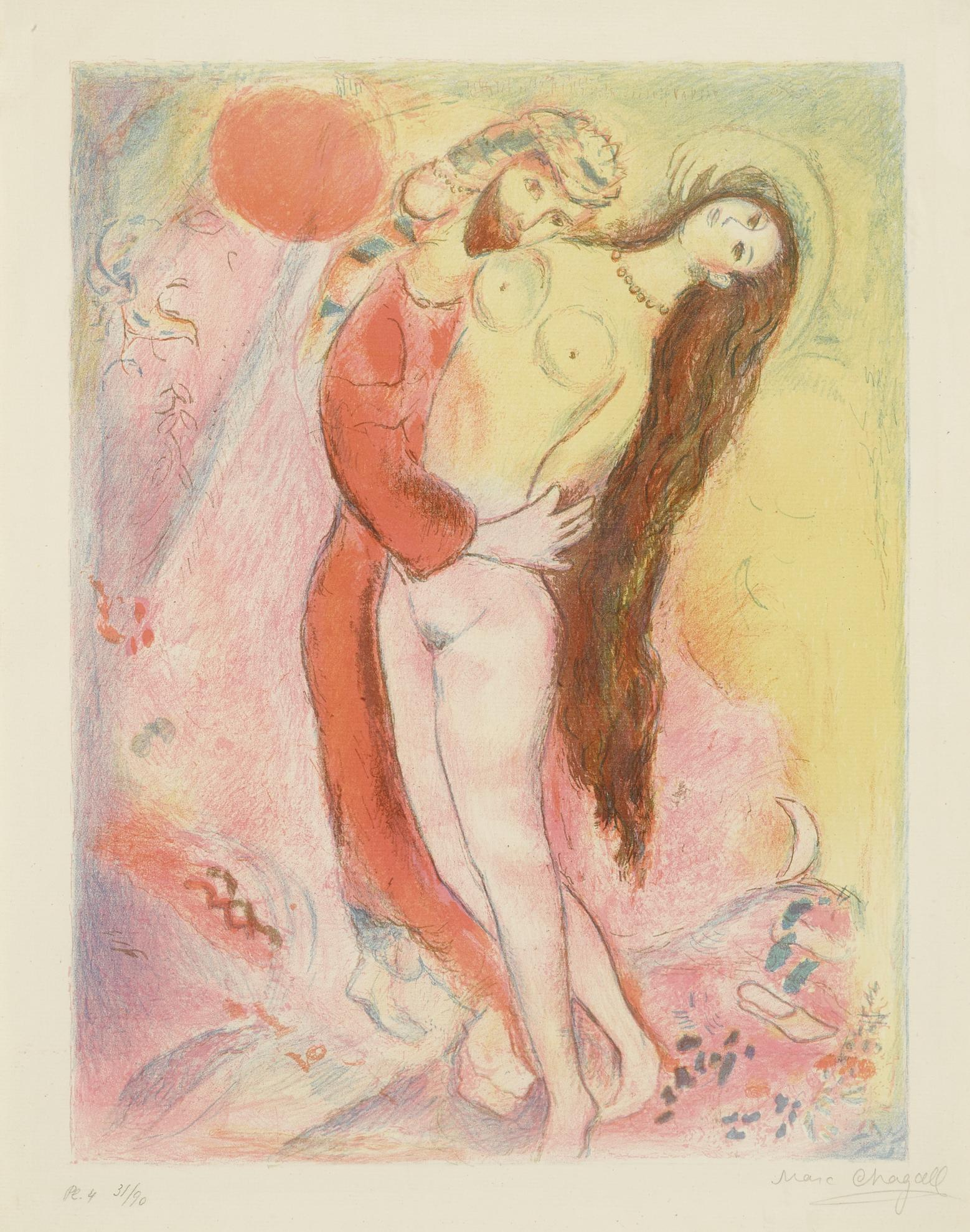 Marc Chagall-Disrobing Her With His Own Hand... (M. 39; C. Bks 18)-1948