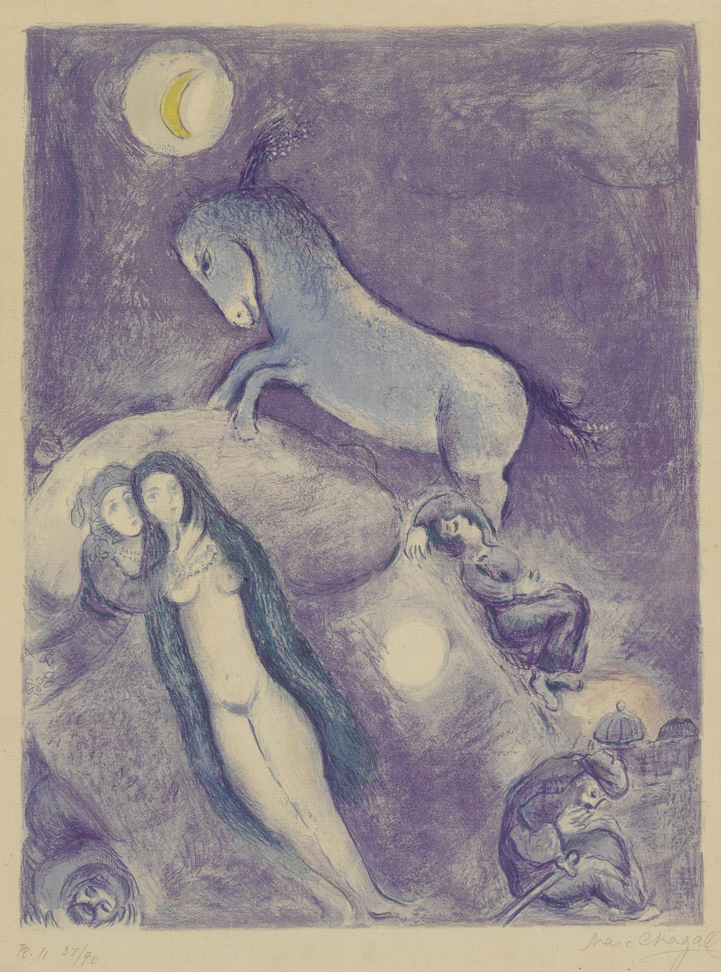 Marc Chagall-He Went Up To The Couch And Found The Young Lady Asleep... (M. 46; C. Bks. 18)-1948