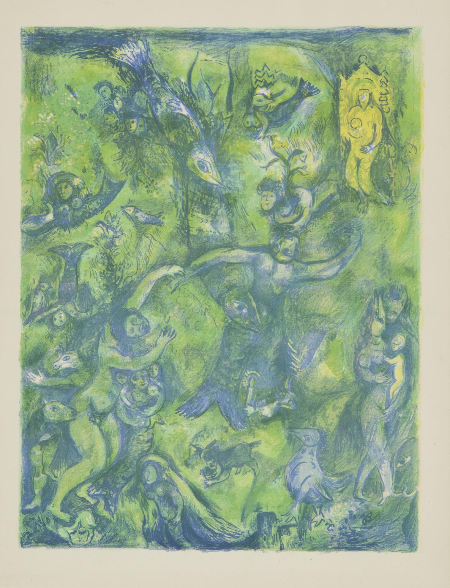 Marc Chagall-Abdullah Discovered Before Him... (M. 44)-1948