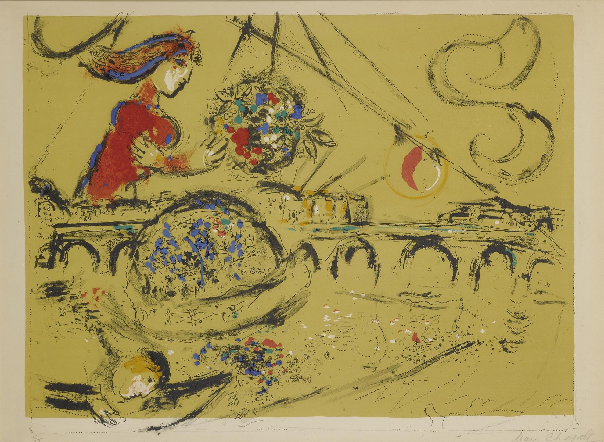 Marc Chagall-Ile Saint-Louis (M. 225)-1959