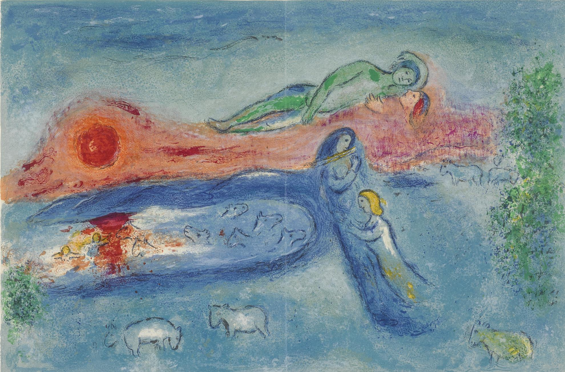 Marc Chagall-The Death Of Dorcon (M. 320; See C. Bks. 46)-1961