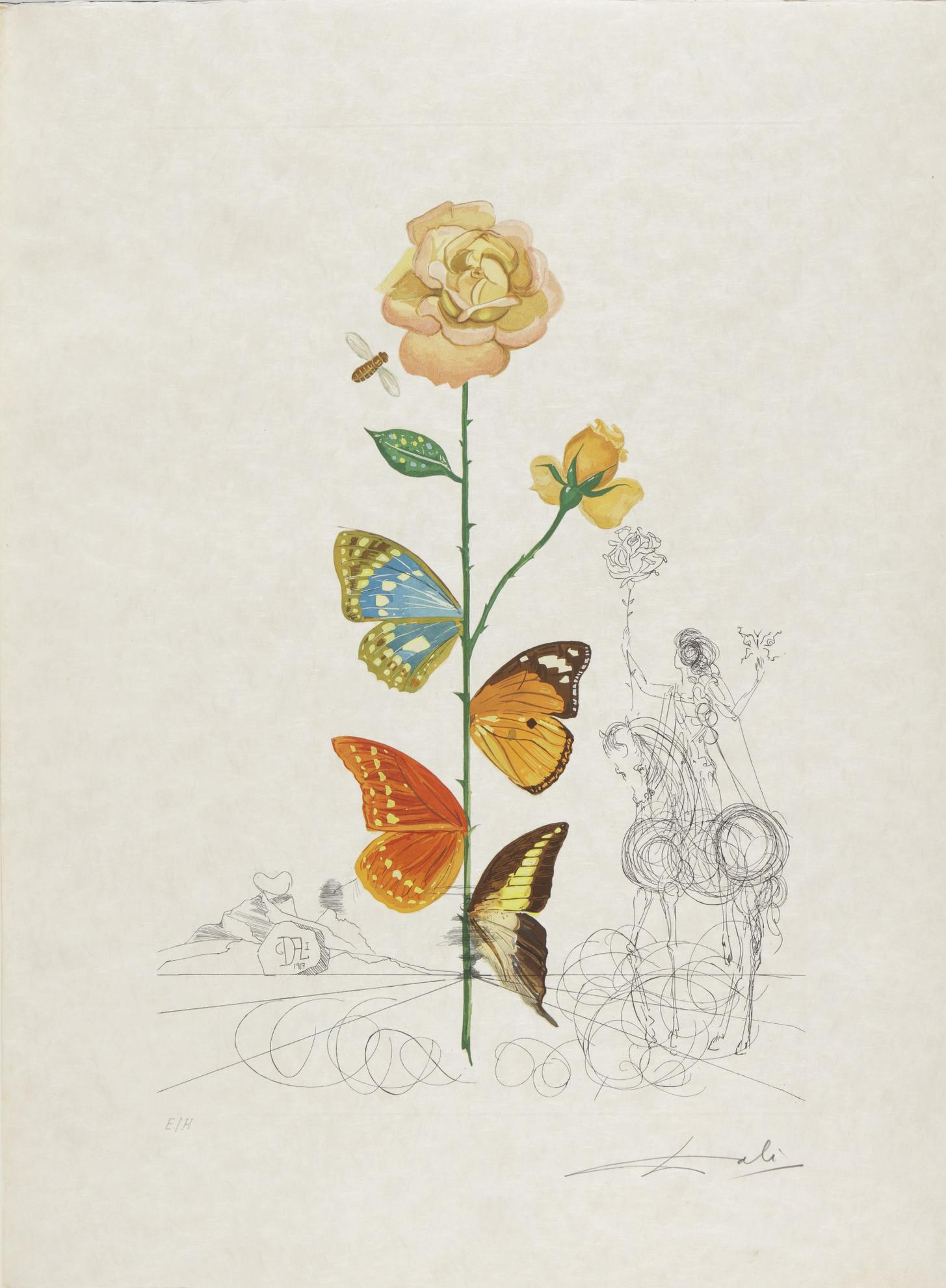Salvador Dali-Flora Dalinae (Michler & Lopsinger 227-236; Field 68-3 A-J)-1968