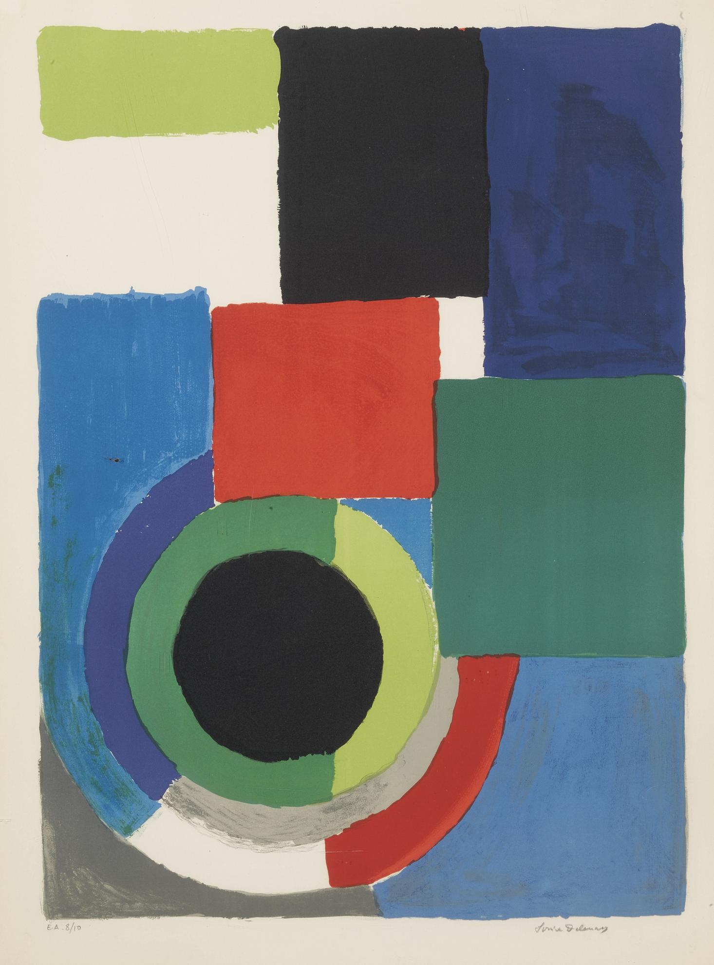 Sonia Delaunay-Untitled And Grand Carre Rouge-1970