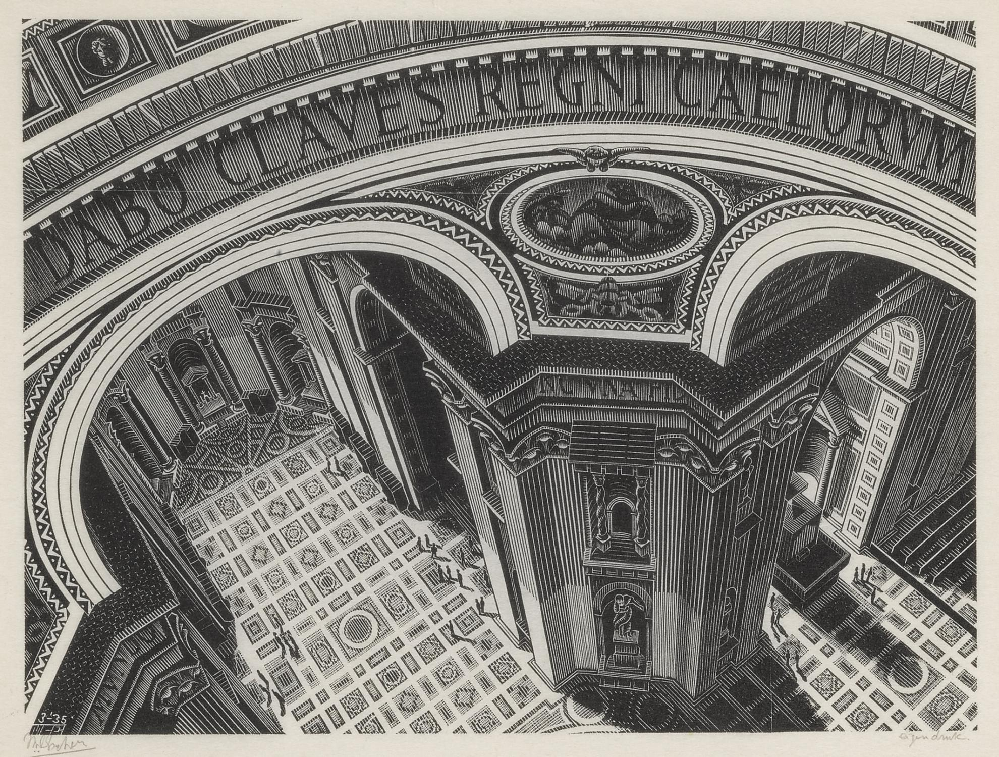 Maurits Cornelis Escher-Inside St Peters (Bool/Kist/Locher/Wierda 270)-1935