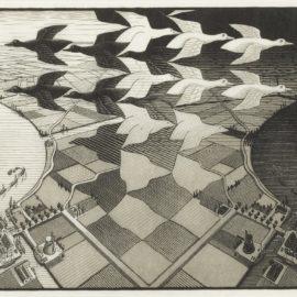 Maurits Cornelis Escher-Day And Night (B./K./L./W 303)-1938