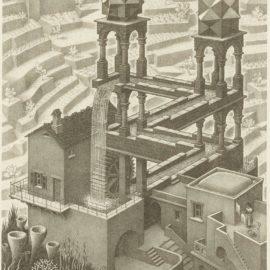 Maurits Cornelis Escher-Waterfall (B./K./L./W 439)-1961