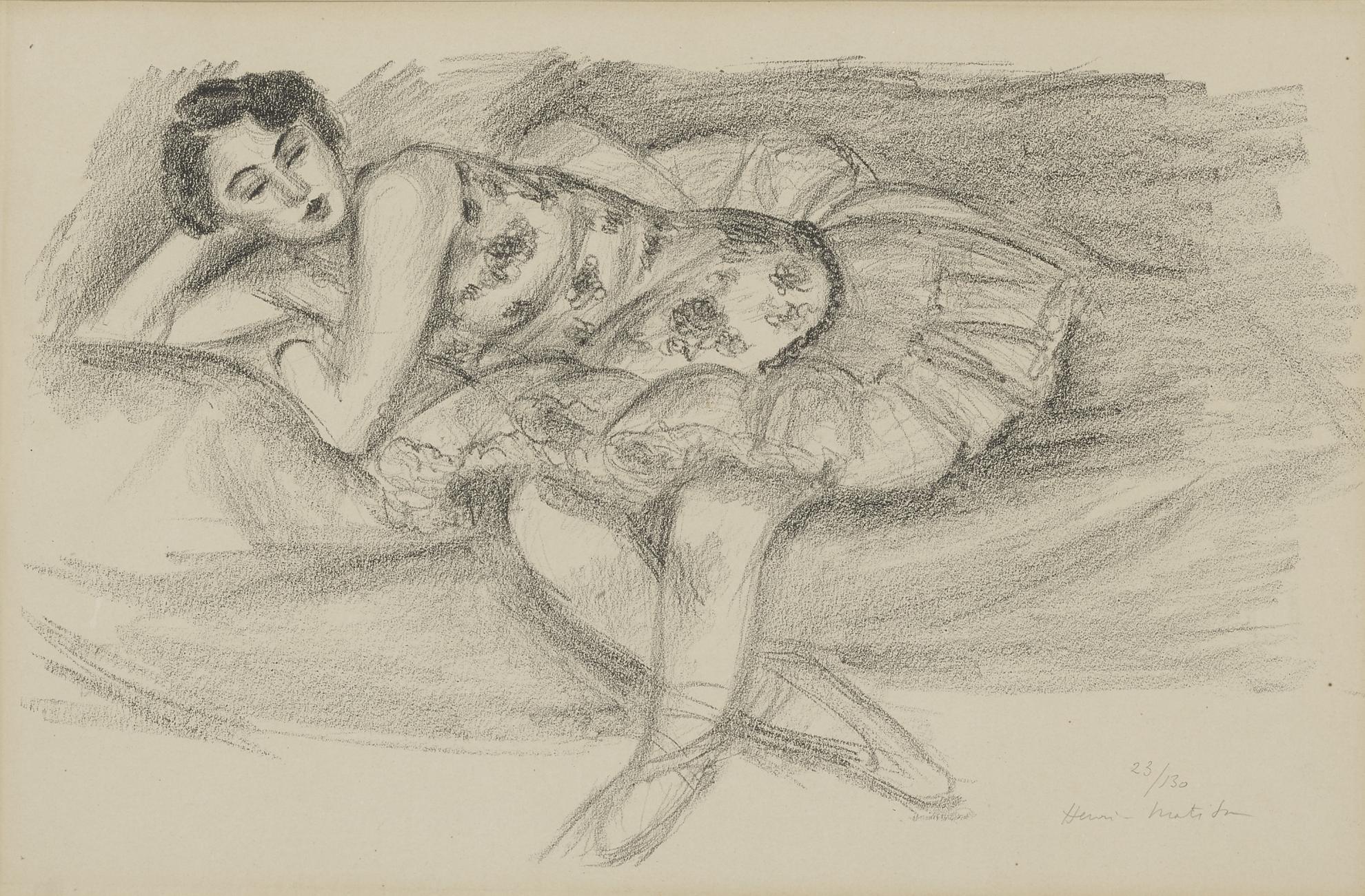 Henri Matisse-Danseuse Au Divan, Pliee En Deux (D. 489)-1926