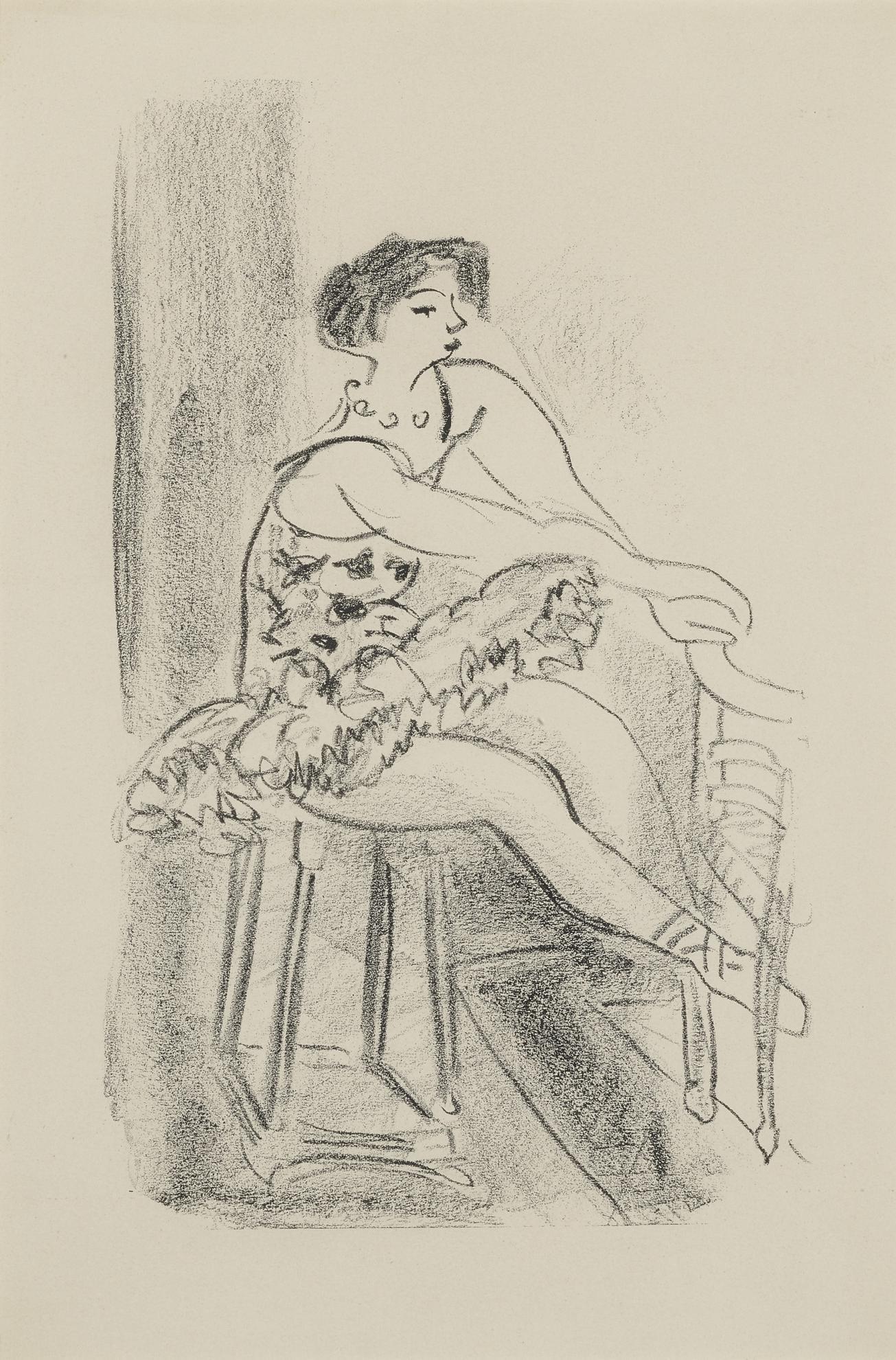 Henri Matisse-Danseuse Assise (D. 478)-1926