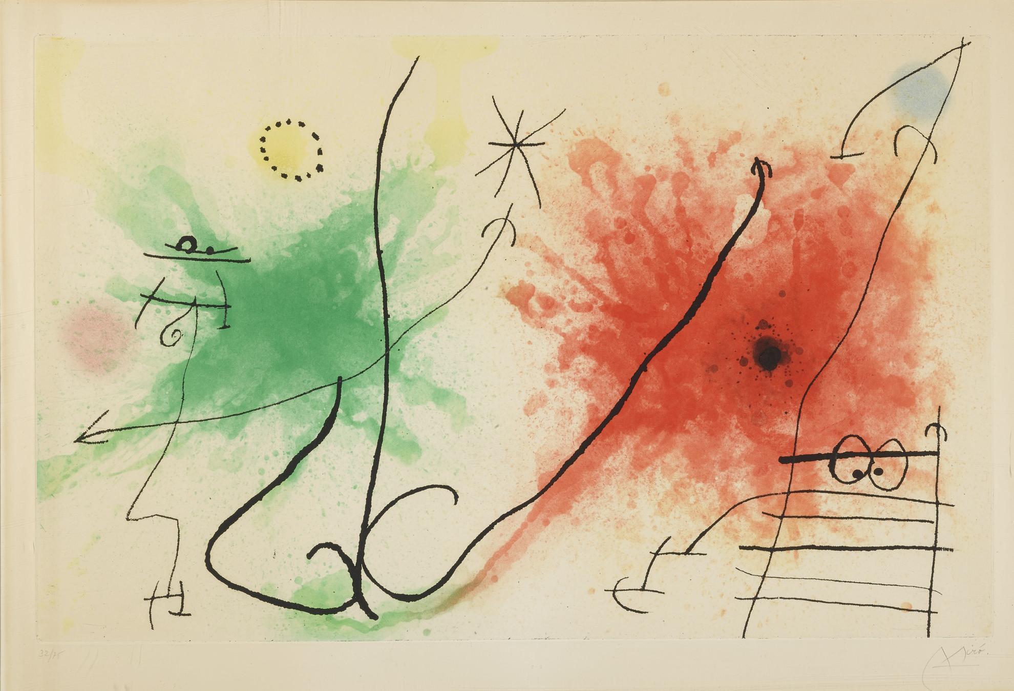 Joan Miro-Partie De Campagne V (D. 434)-1967