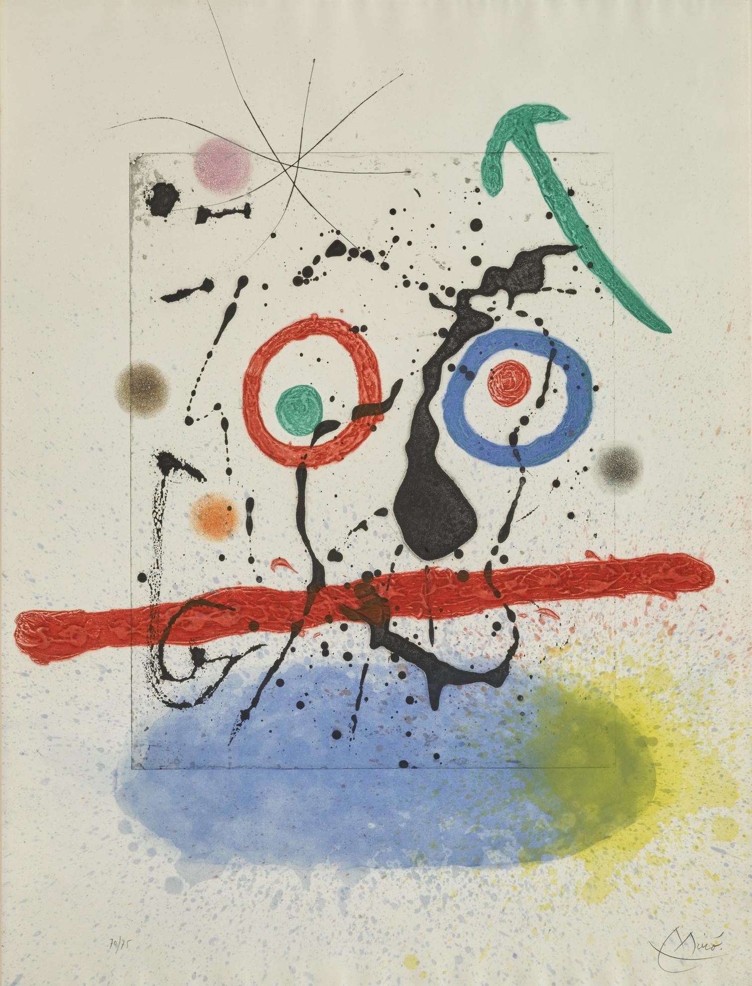 Joan Miro-Le Scieur De Long (D. 458)-1968