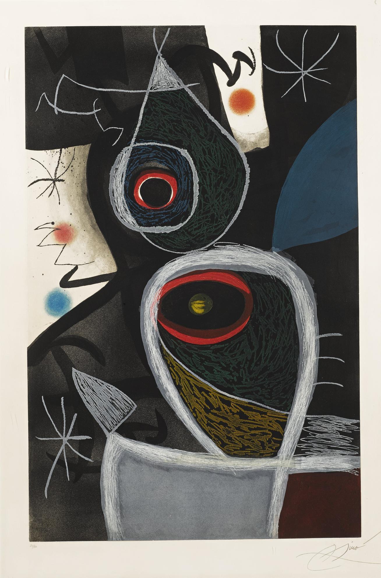 Joan Miro-Le Somnambule (D. 656)-1974