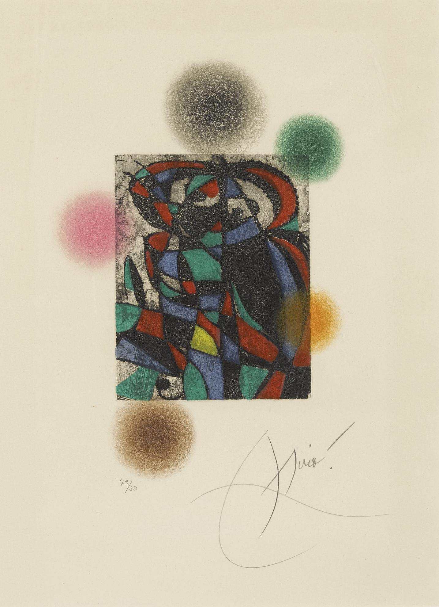 Joan Miro-Arlequin Crepusculaire (D. 738)-1975