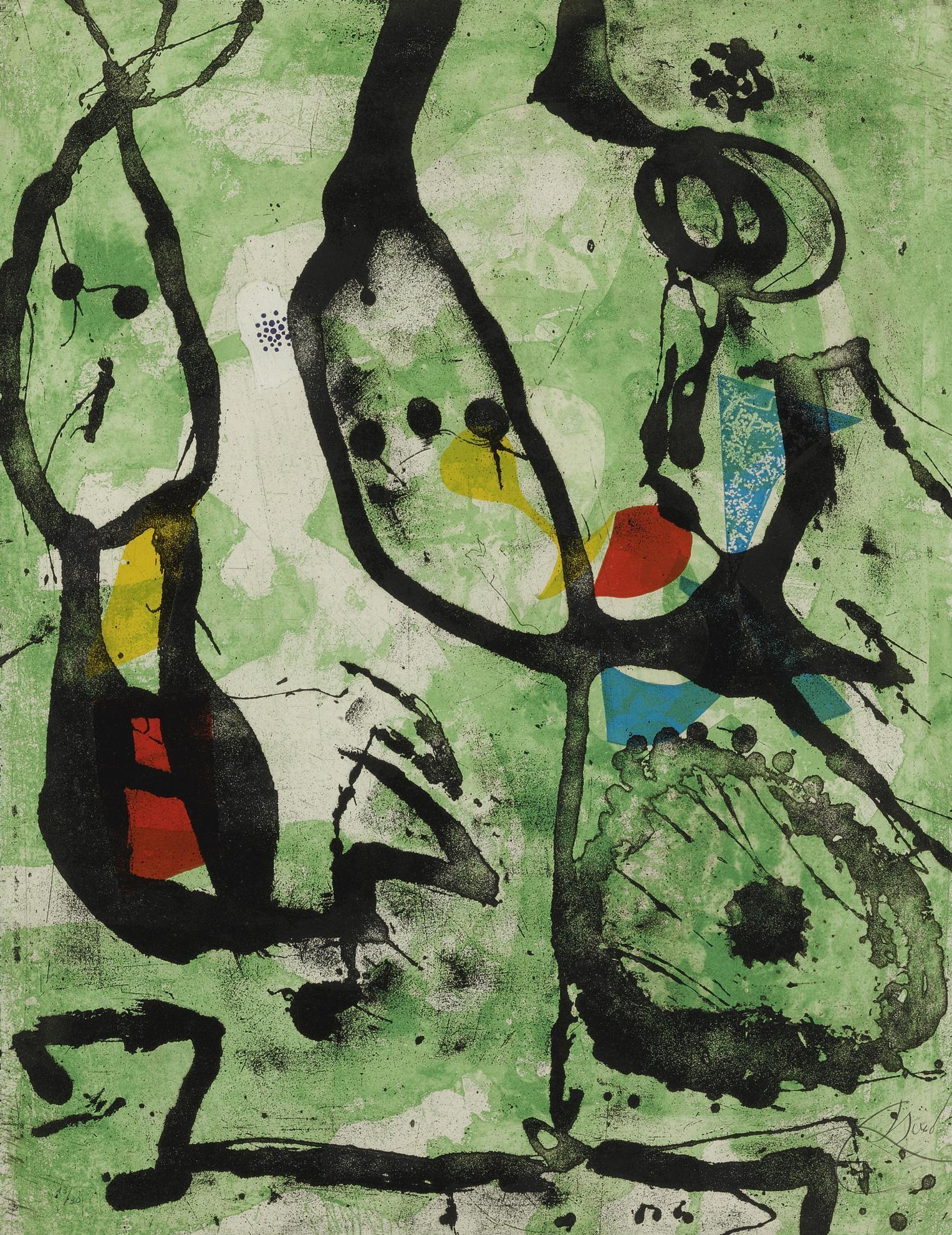 Joan Miro-Grans Rupestres IV (D. 1056)-1979