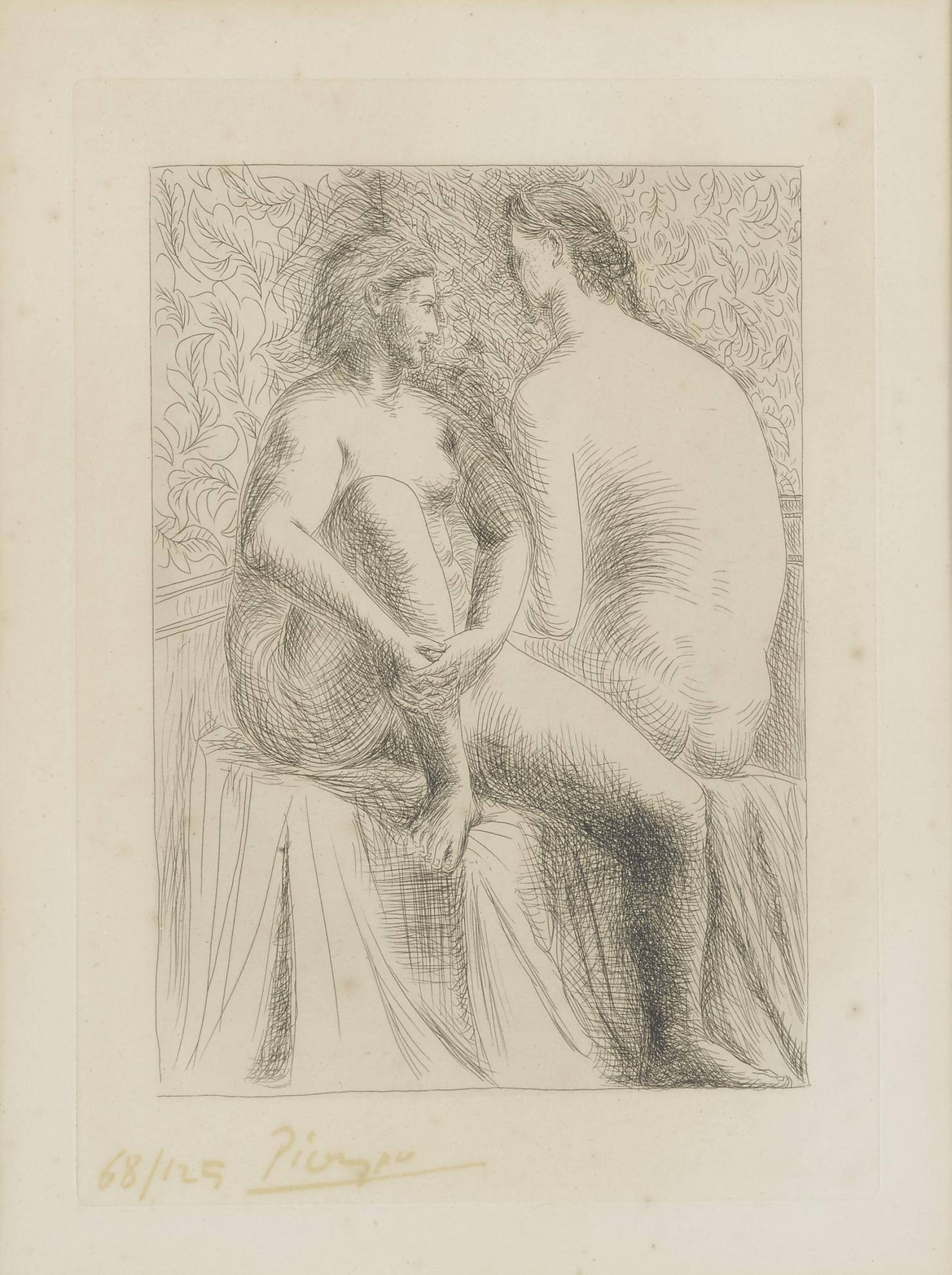 Pablo Picasso-Deux Femmes Nues (B. 132; Ba. 199)-1930