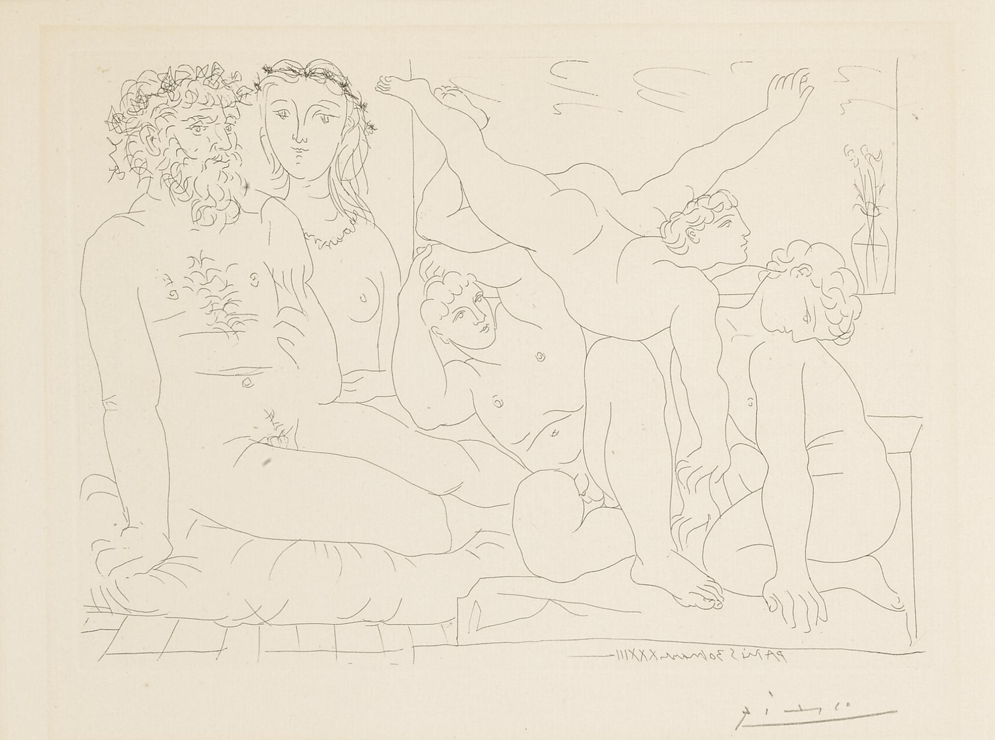 Pablo Picasso-Famille De Saltimbanques (B. 163; Ba. 316)-1933