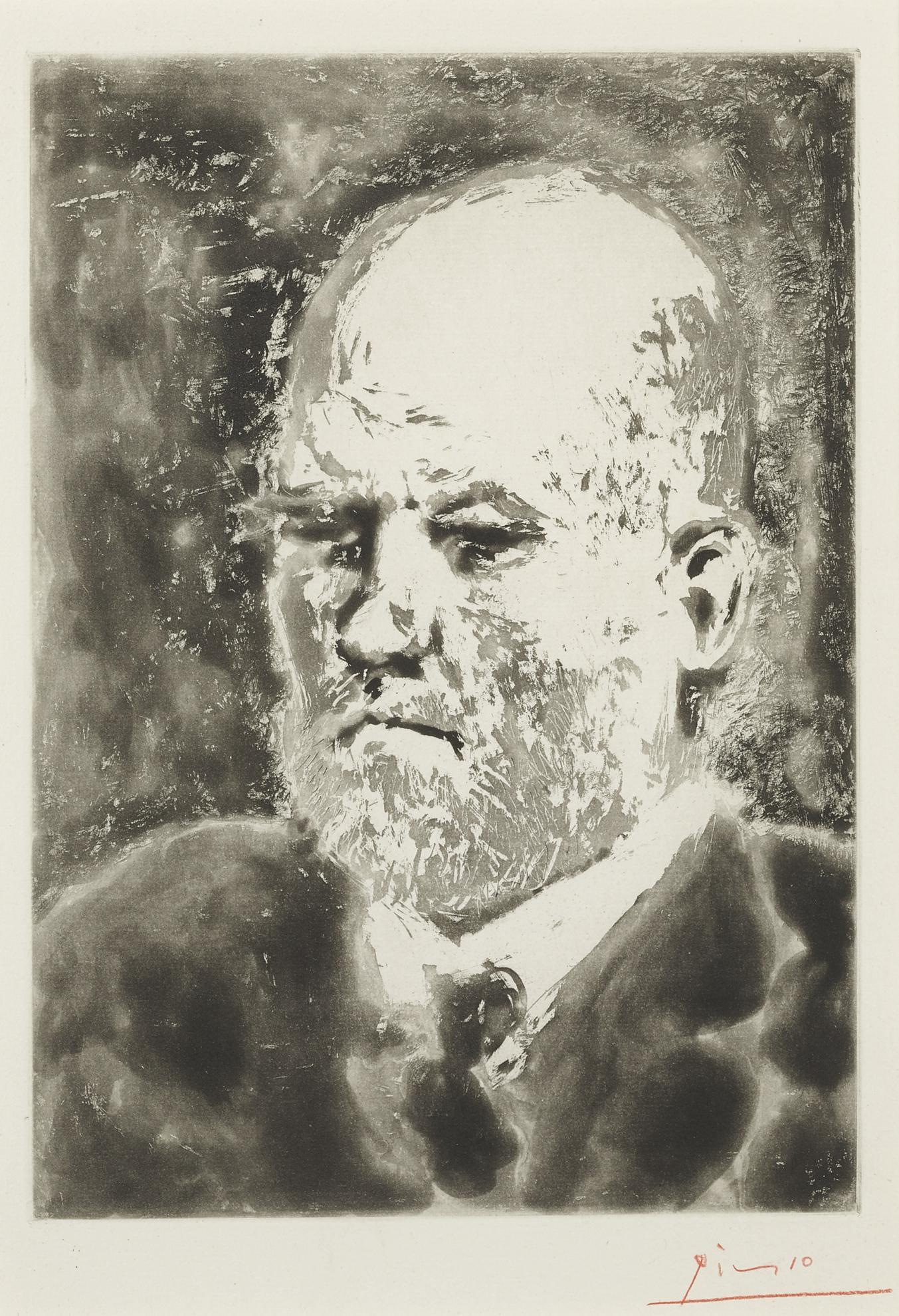 Pablo Picasso-Portrait De Vollard I (B. 232; Ba. 617)-1937
