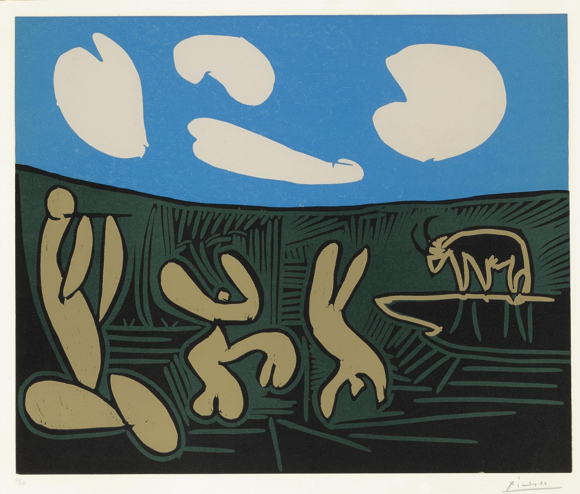 Pablo Picasso-Bacchanale A Lacrobate (Bacchanale Au Taureau) (B. 933; Ba. 1264)-1959