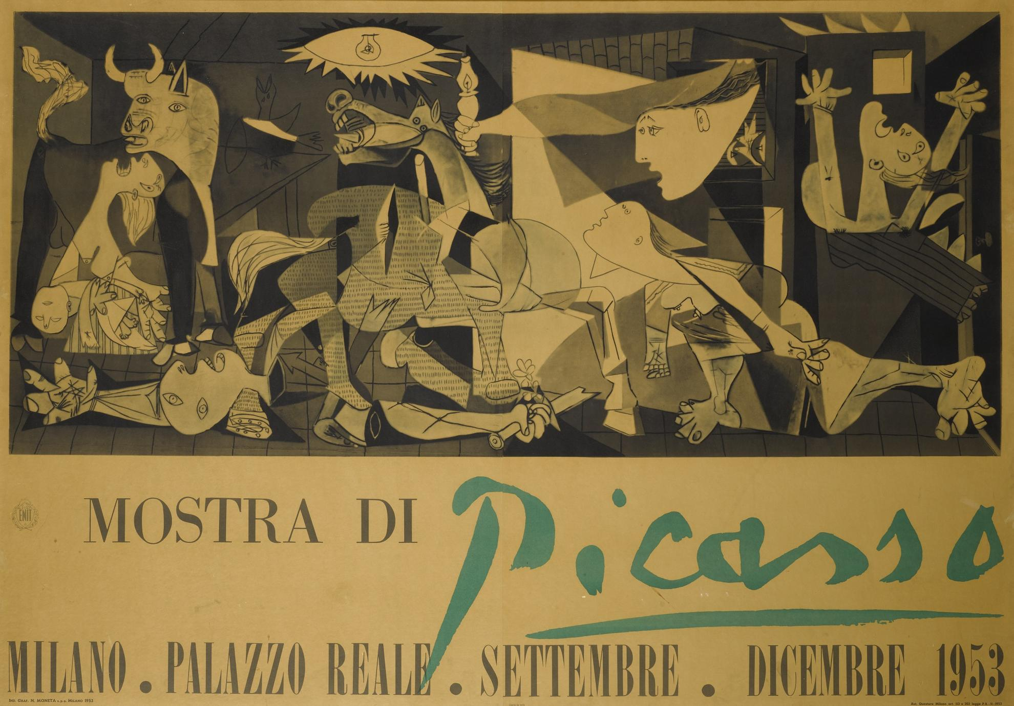 After Pablo Picasso - Mostra Di Picasso Guernica (Czwiklitzer 76); After Fernand Leger, Untitled (Saphire e3)-1953