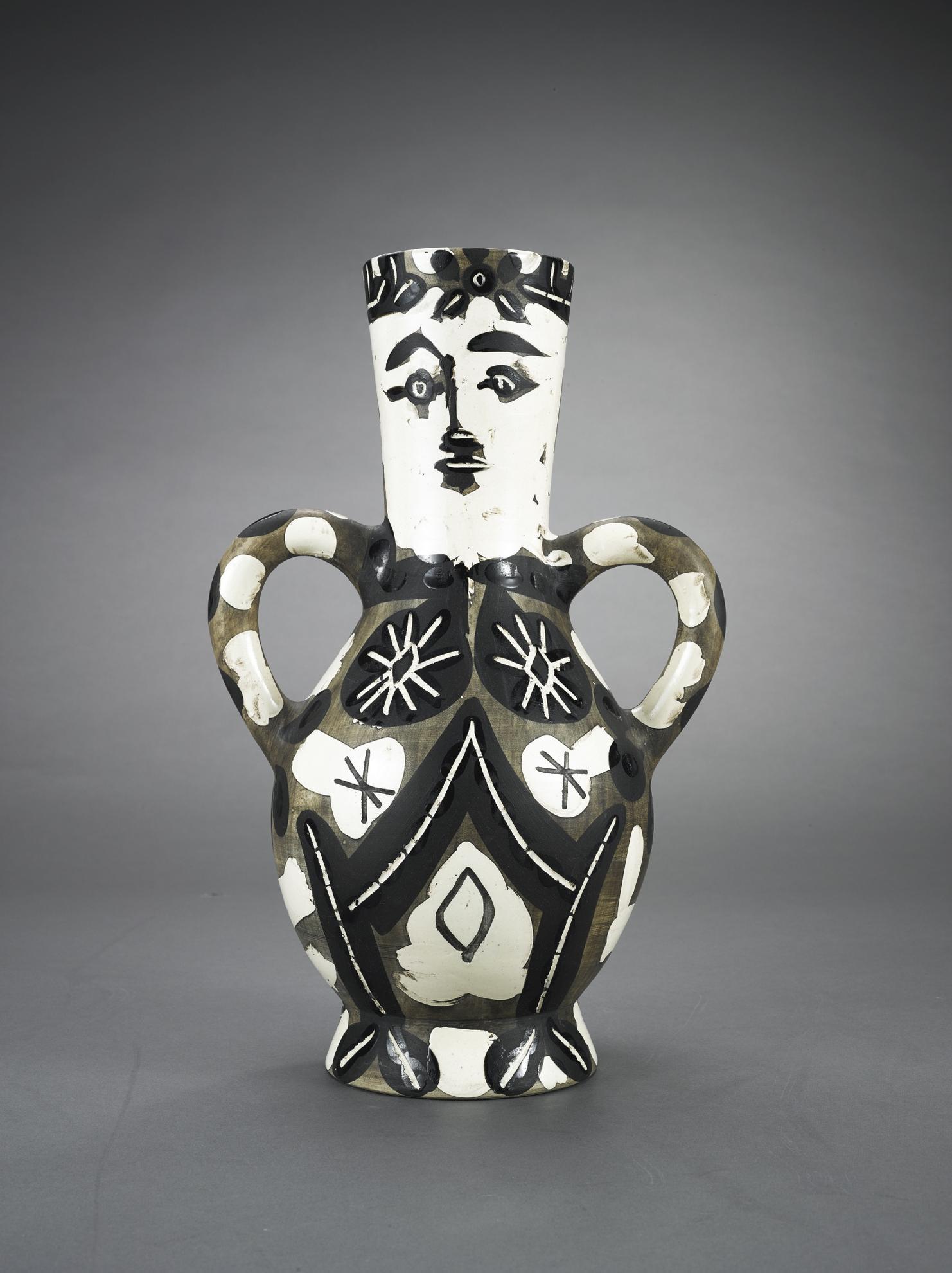 Pablo Picasso-Vase Deux Anses Hautes (Alain Ramie 141)-1952