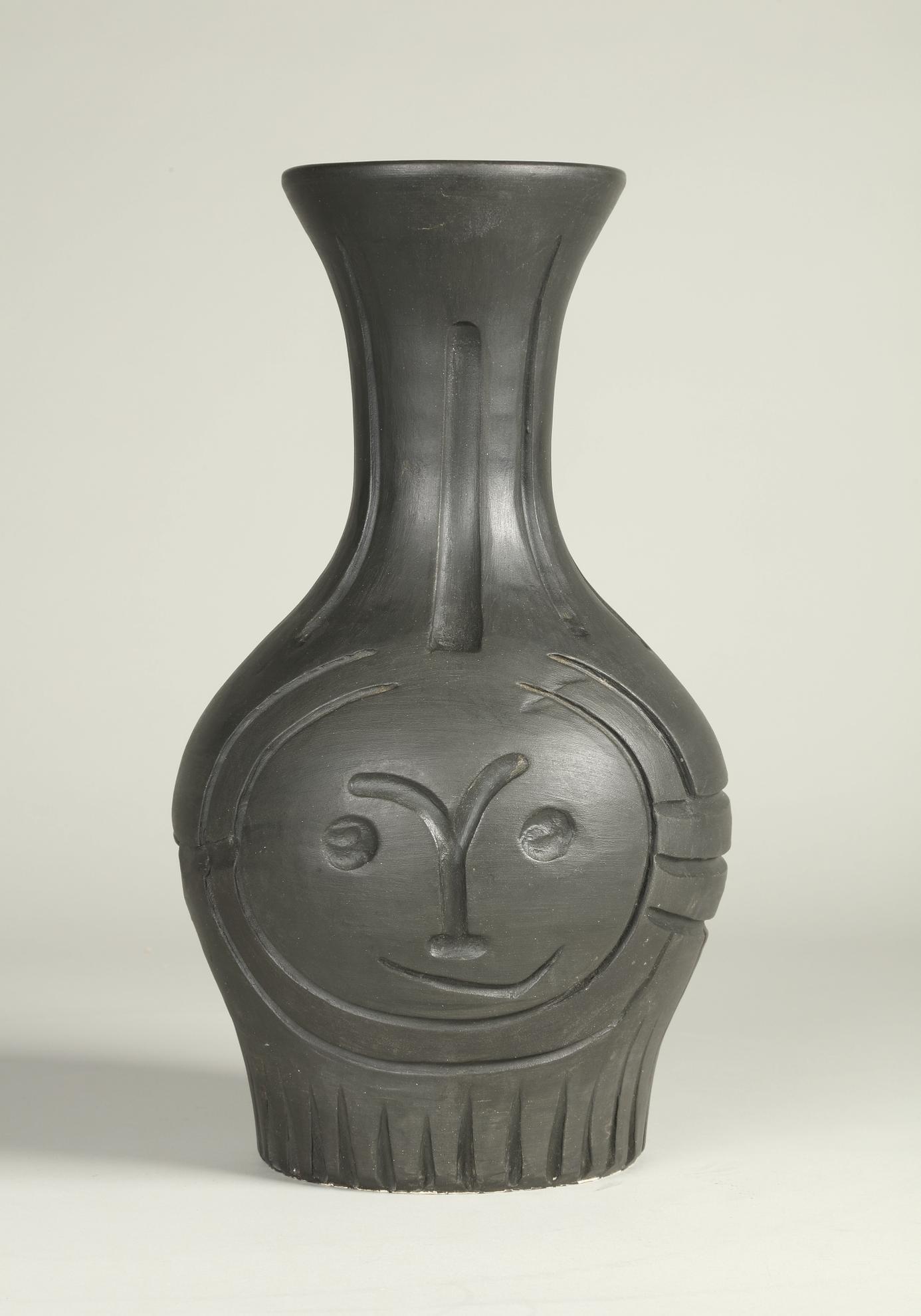 Pablo Picasso-Visage Grave Noir (A.R. 210)-1953