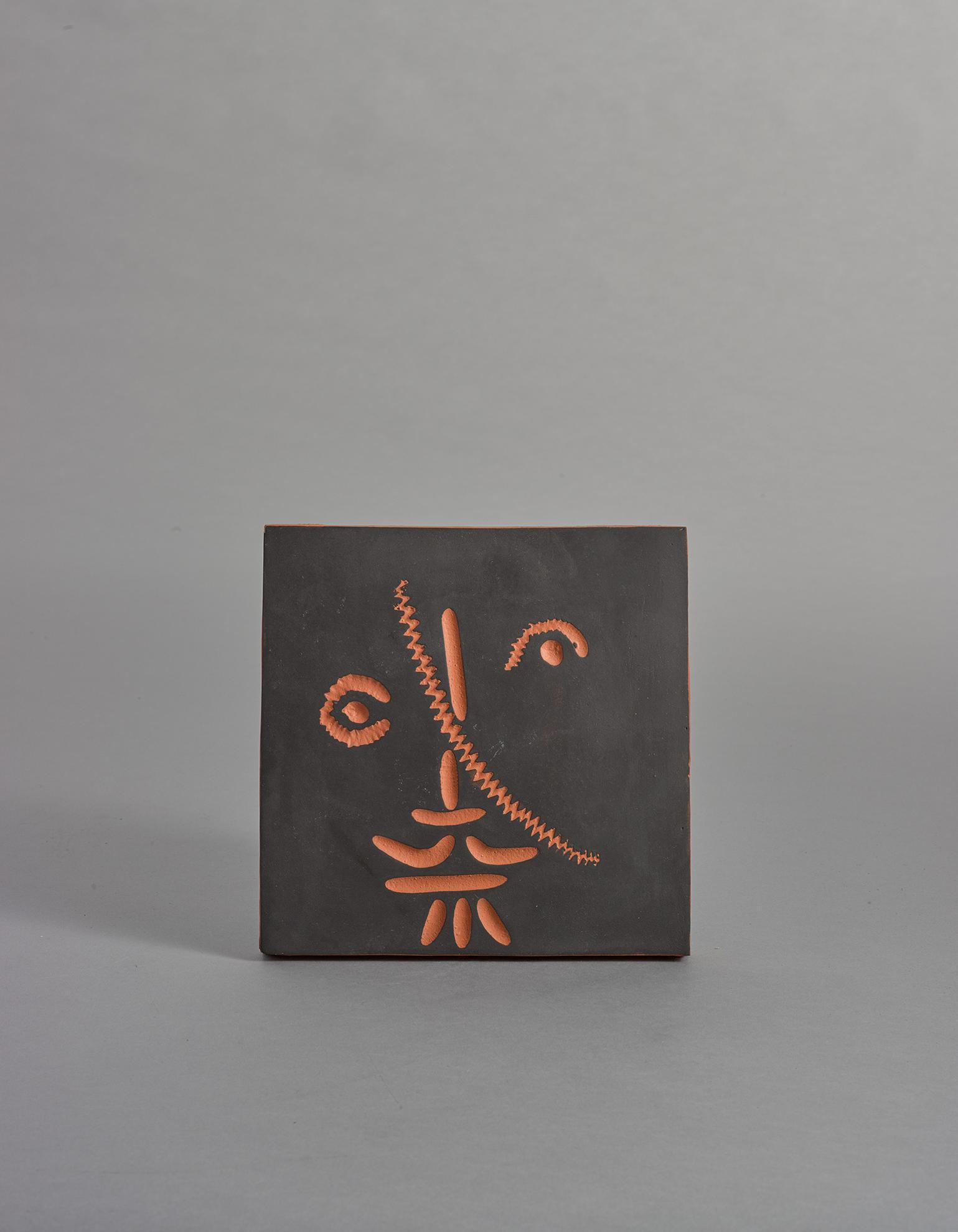 Pablo Picasso-Visage Au Trat Oblique (A.R. 588)-1968