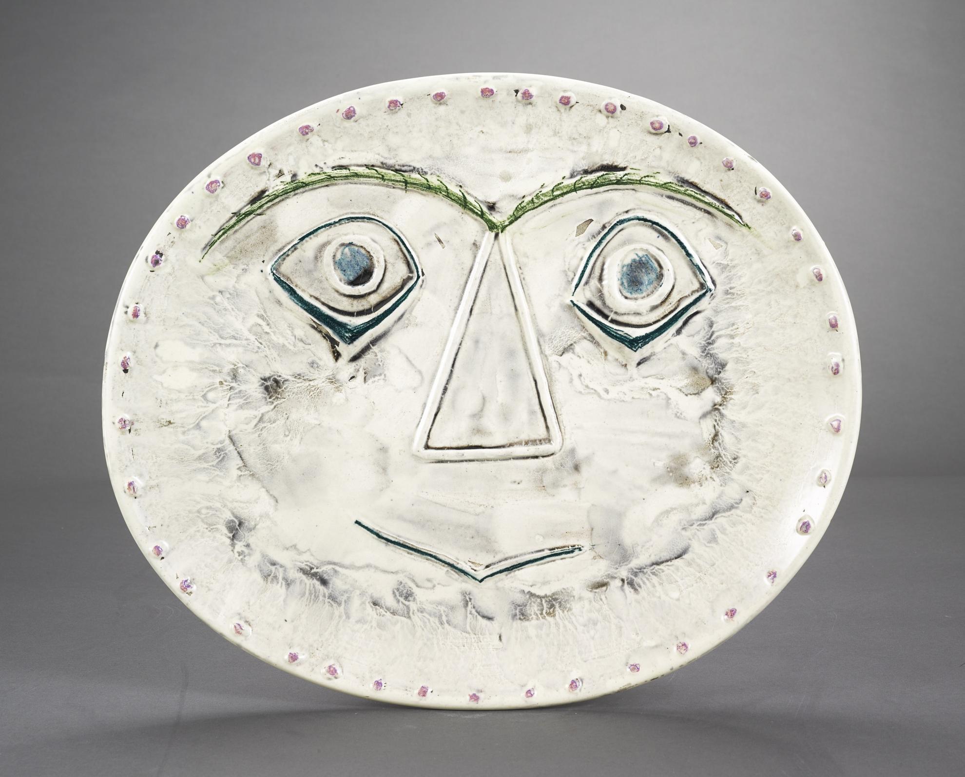 Pablo Picasso-Visages Geometrique (Recto); Pastelles Et Patine (Verso) (A.R. 357)-1956