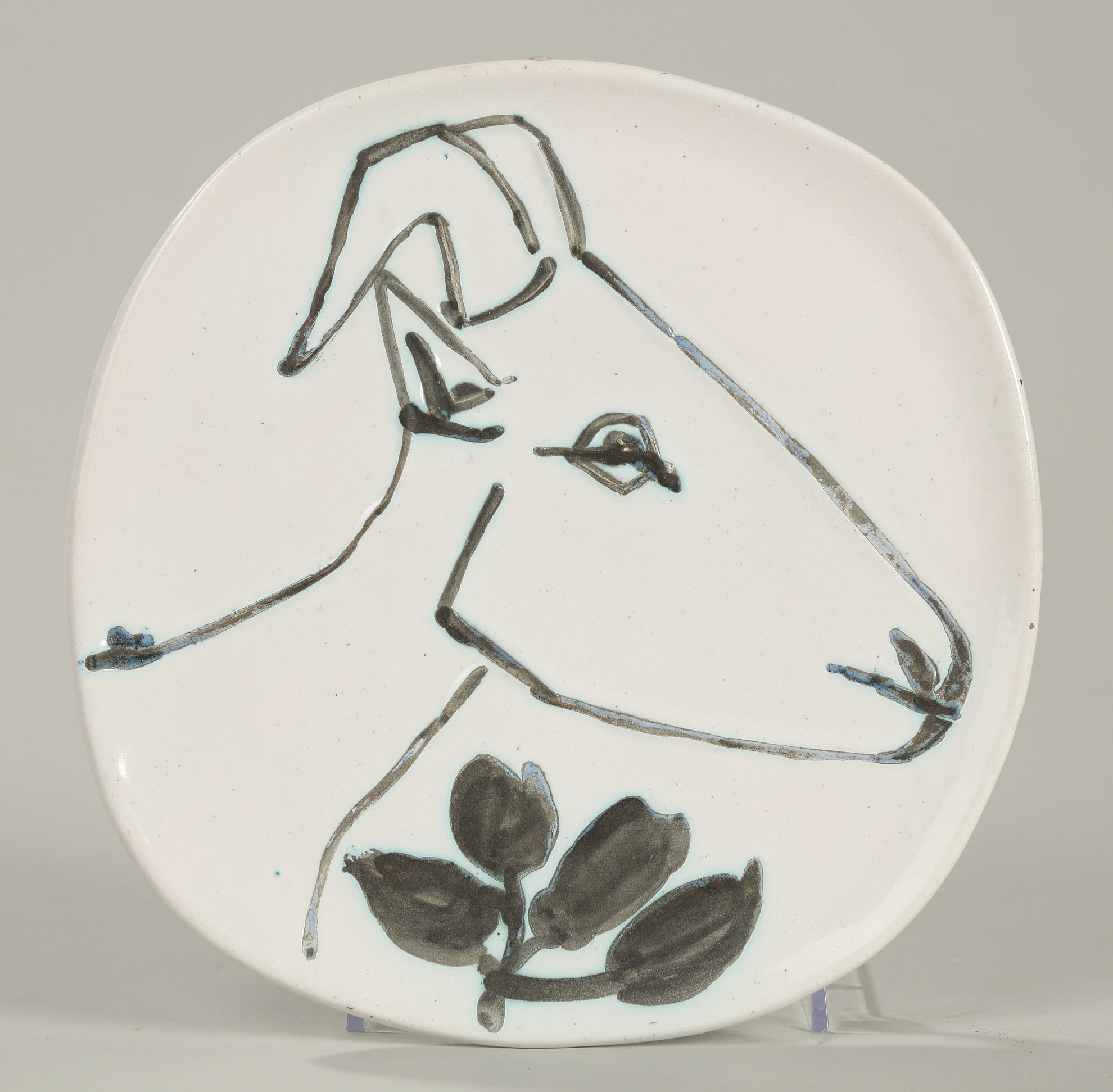 Pablo Picasso-Tete De Chevre De Profil (A.R. 106)-1950