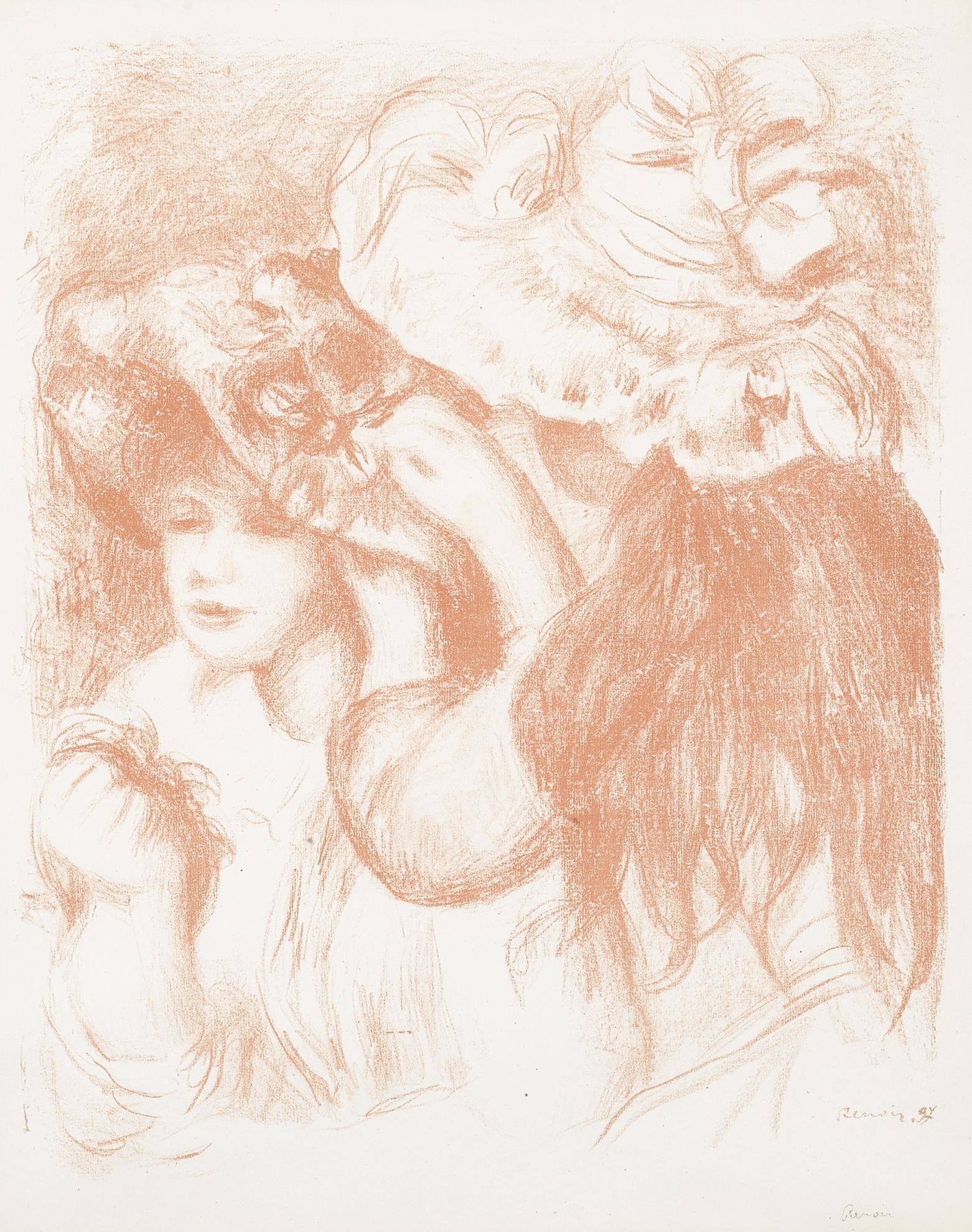 Pierre-Auguste Renoir-Le Chapeau Epingle, 1Ere Planche (Delteil, Stella 29)-1897