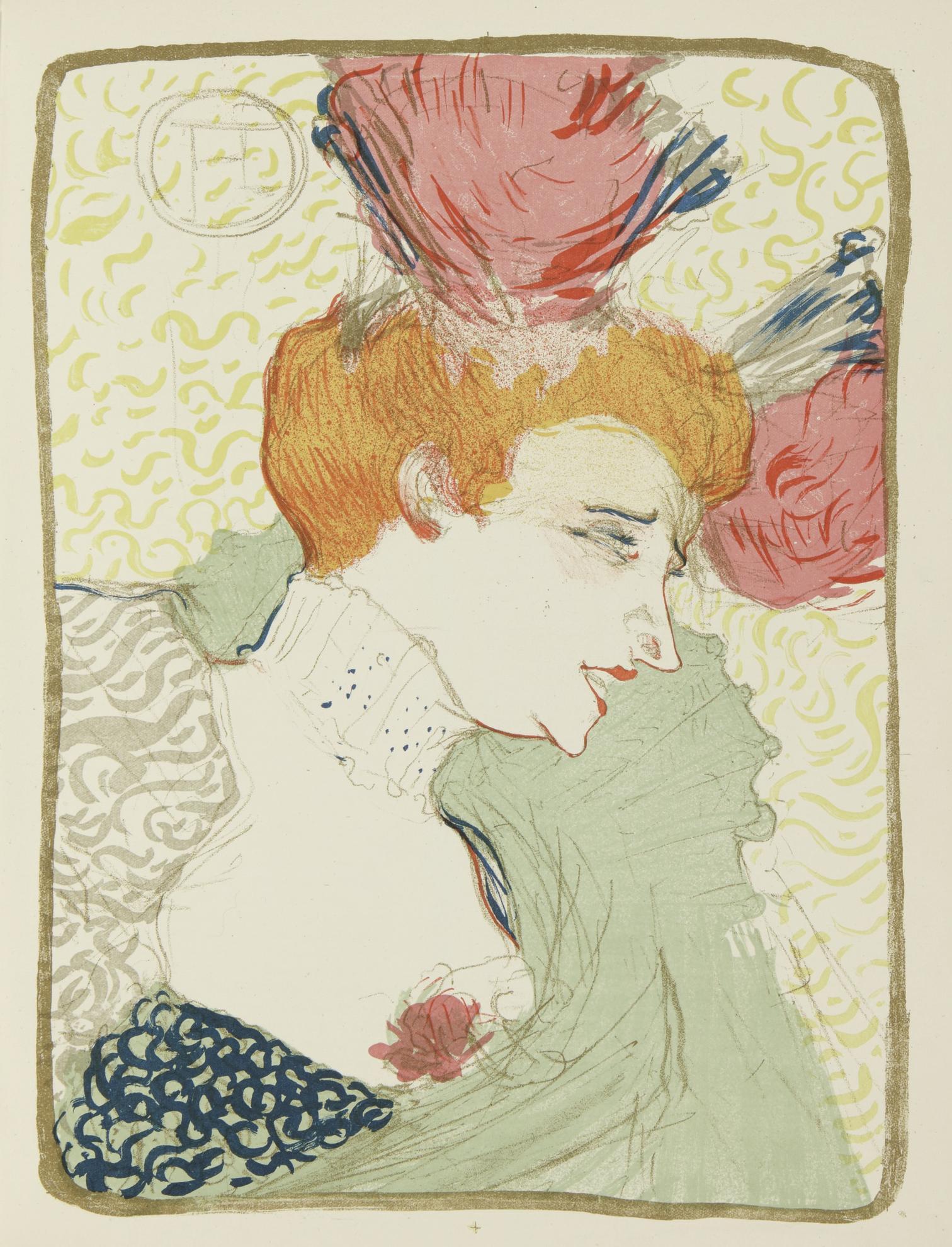 Henri de Toulouse-Lautrec-Mademoiselle Marcelle Lender, En Buste (Delteil 10; Adriani 1152; Wittrock 99)-1895