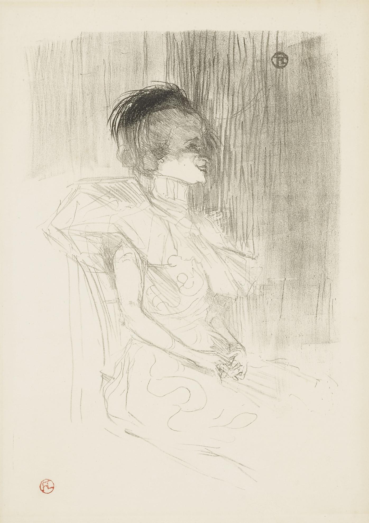 Henri de Toulouse-Lautrec-Lender Assise (D. 163; Adr. 117; W. 102)-1895