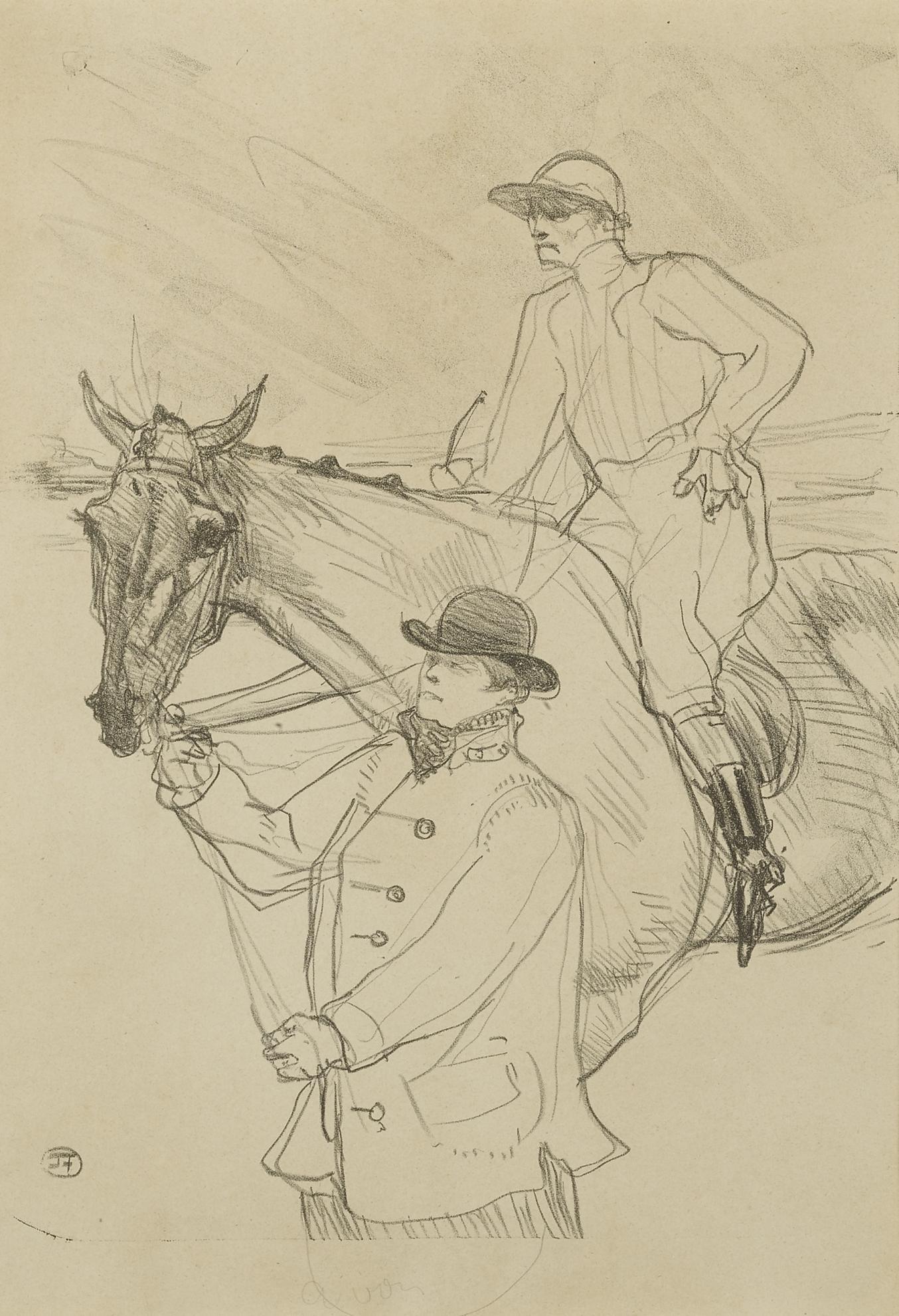 Henri de Toulouse-Lautrec-Le Jockey Se Rendant Au Poteau (D. 282; Adr. 348; W. 311)-1899