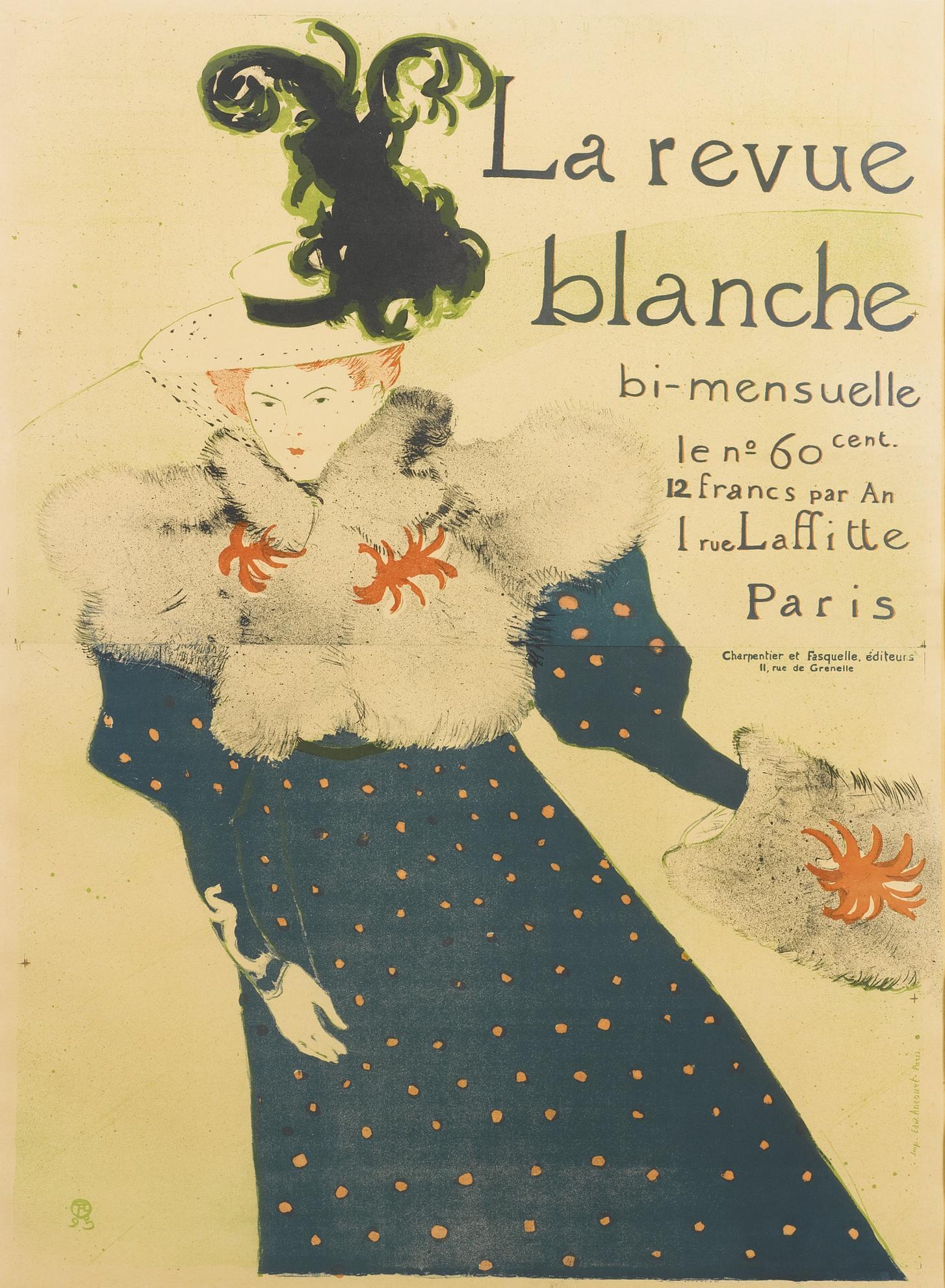 Henri de Toulouse-Lautrec-La Revue Blanche (D. 355; Adr. 130; W. P16.C)-1895