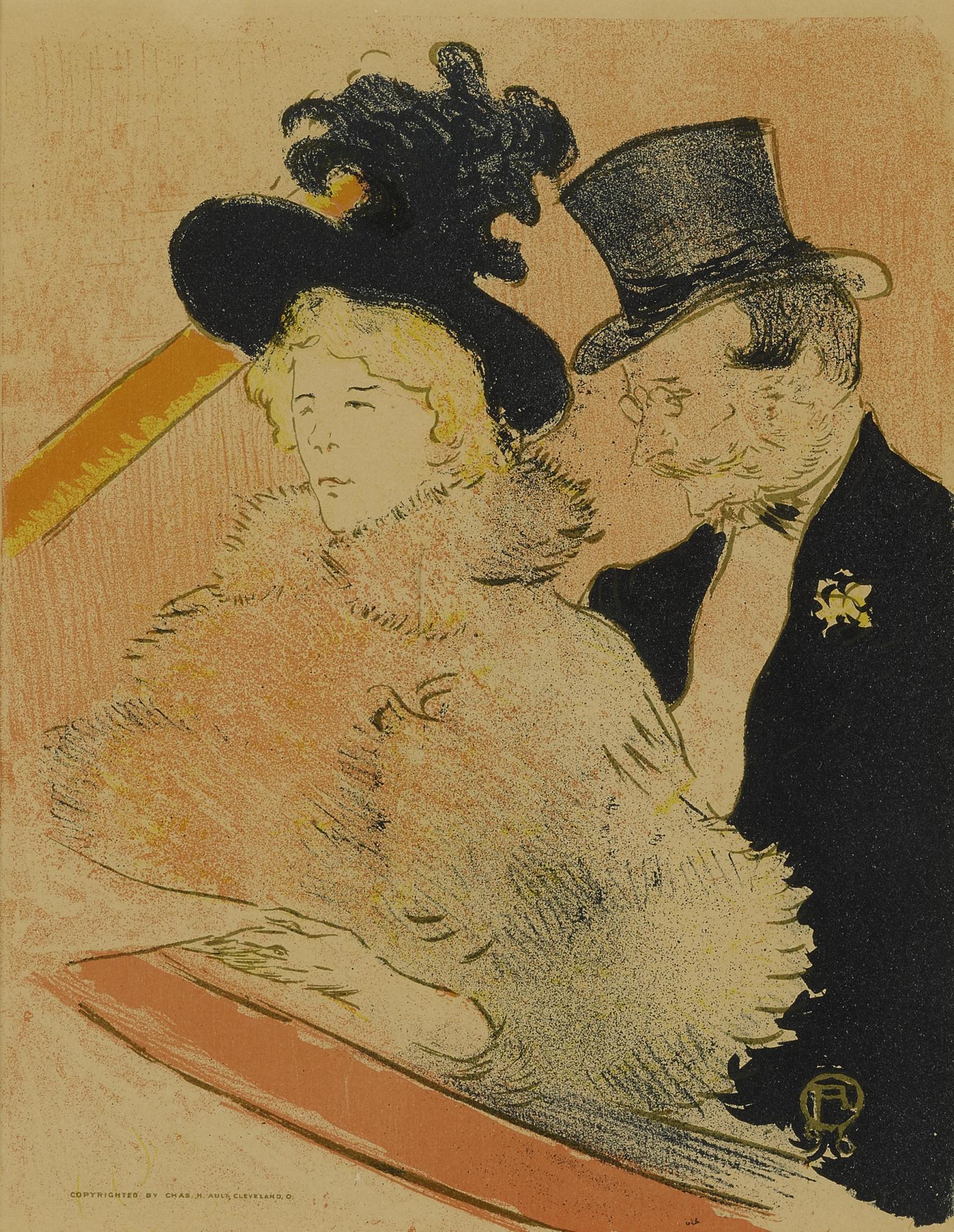 Henri de Toulouse-Lautrec-Au Concert (D. 365; Adr. 199; W. P28)-1896