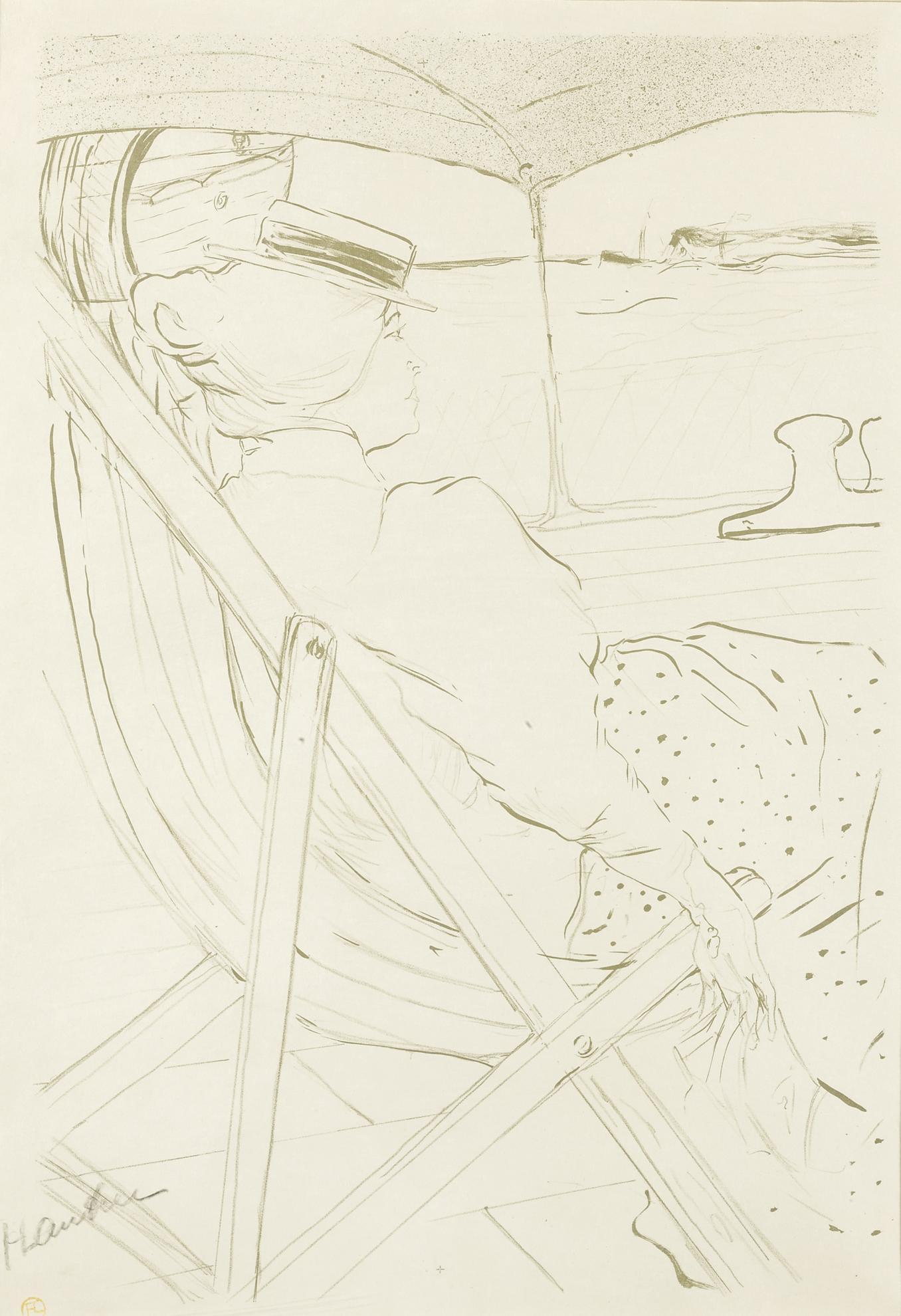 Henri de Toulouse-Lautrec-La Passagere Du 54 Ou Promenade En Yacht (D. 366; Adr. 137; W. P20)-1896