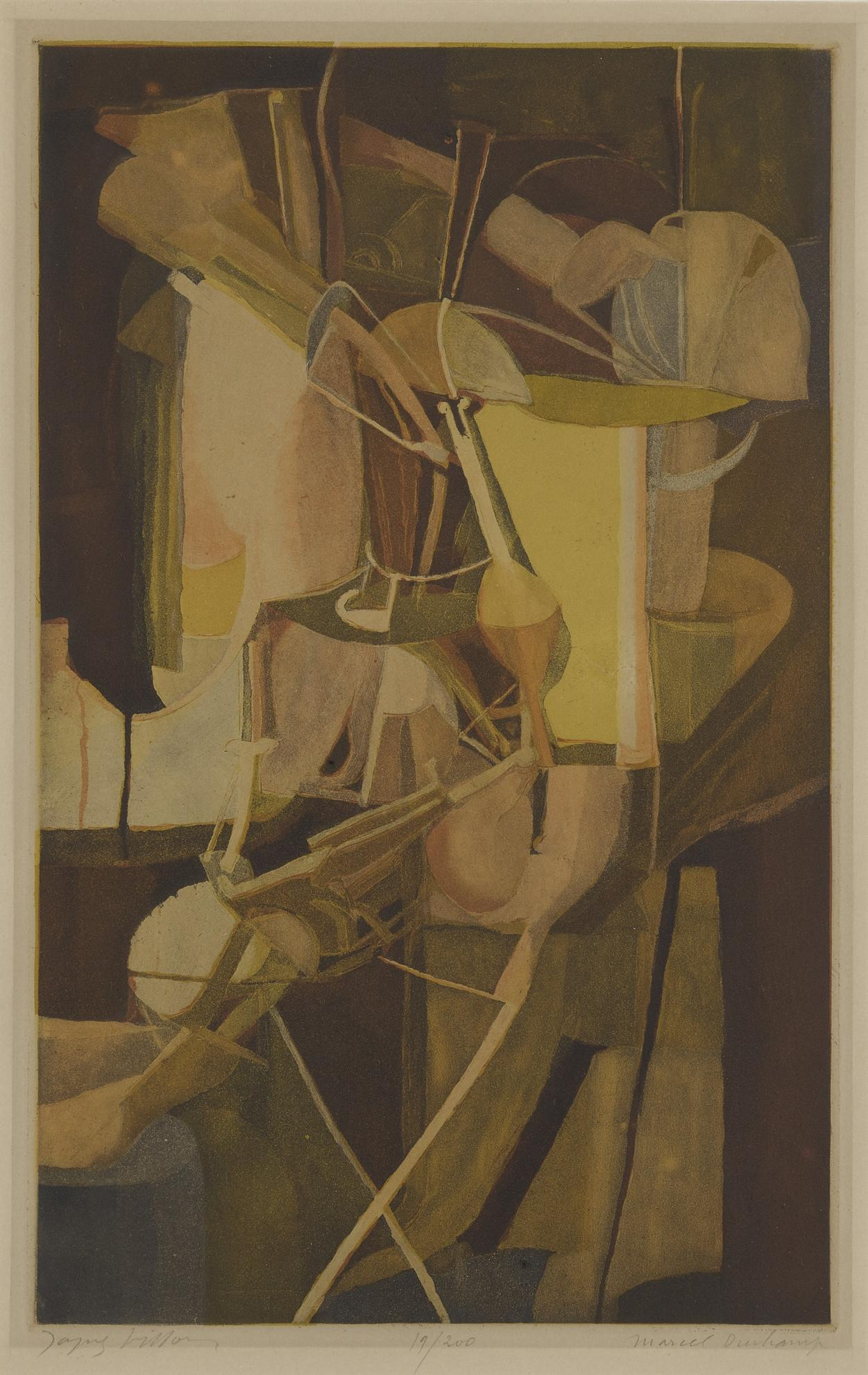 Jacques Villon After Marcel Duchamp - Le Mariee (Ginestet & Pouillon E672)-1934