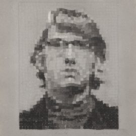 Chuck Close-Keith Iv (Manipulated/Pressed) (Butler Institute 20)-1981