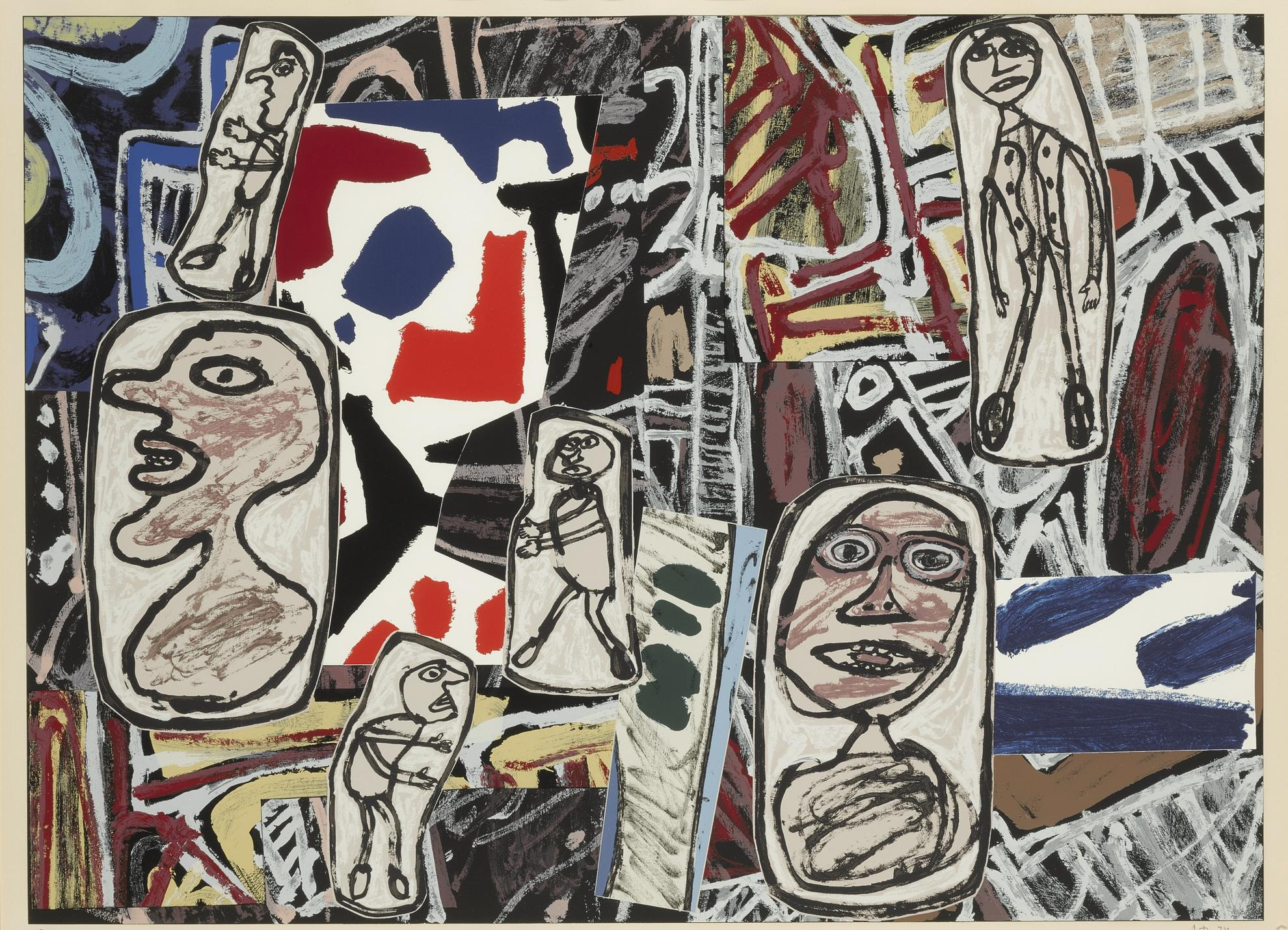 Jean Dubuffet-Faits Memorables I, II & III (Webel 1259-61)-1978