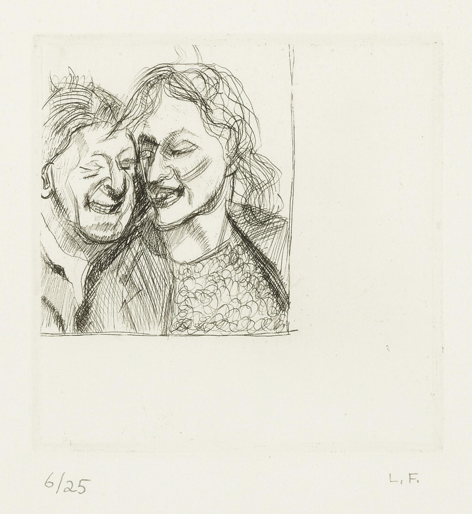 Lucian Freud-A Couple (Hartley 7)-1982