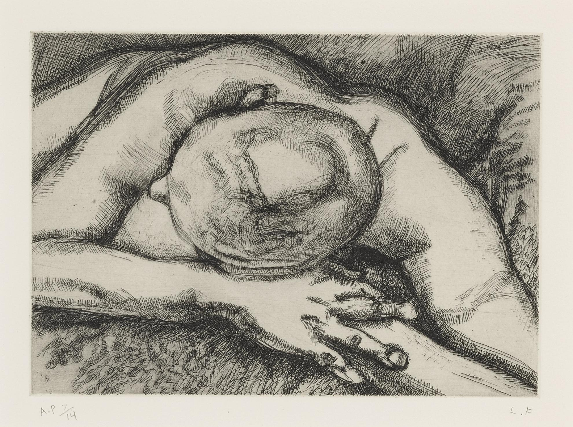 Lucian Freud-Reclining Figure (H. 50)-1994