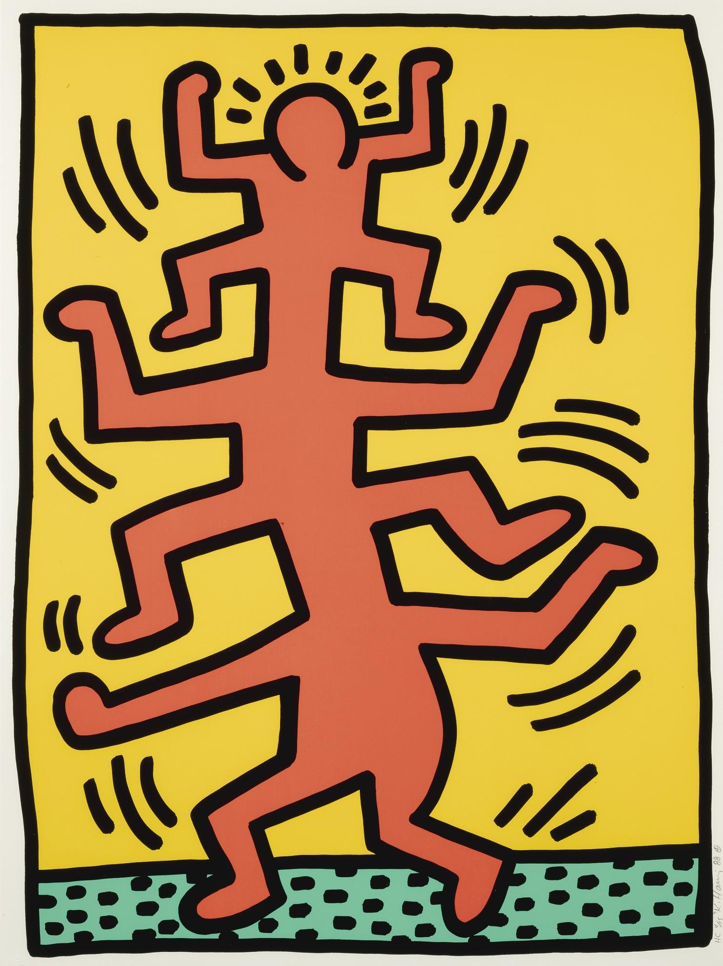 Keith Haring-Growing: One Plate (Littmann P. 89)-1988