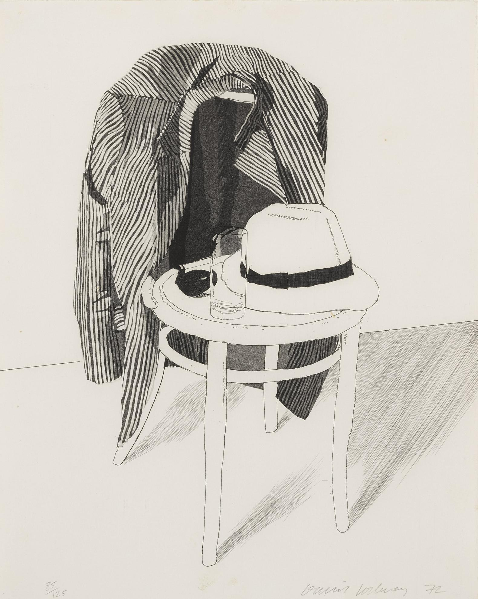 David Hockney-Panama Hat (Scottish Arts Council 127; Museum Of Contemporary Art, Tokyo 119)-1972