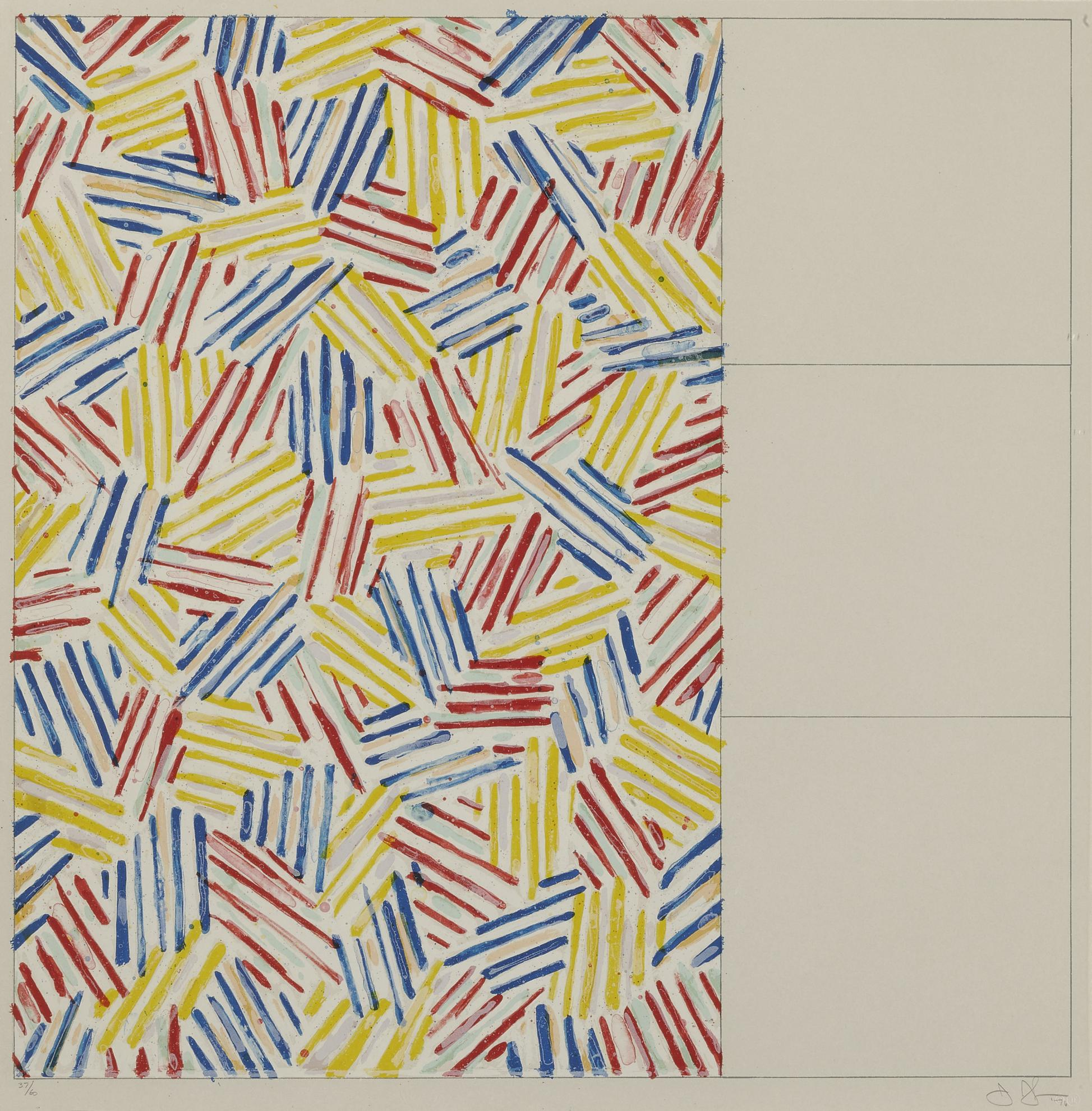 Jasper Johns-#1-6 (After Untitled 1975) (Ulae, 174-179)-1976
