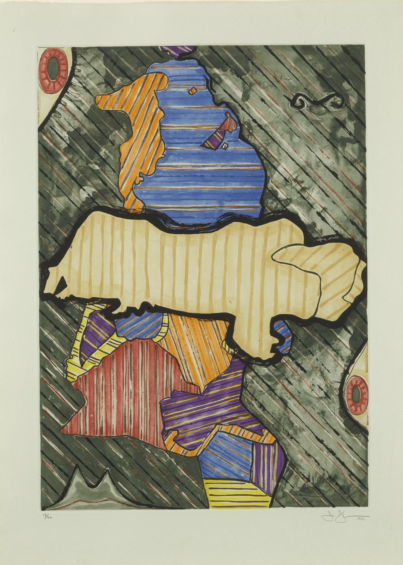 Jasper Johns-Green Angel (Ulae 253)-1991