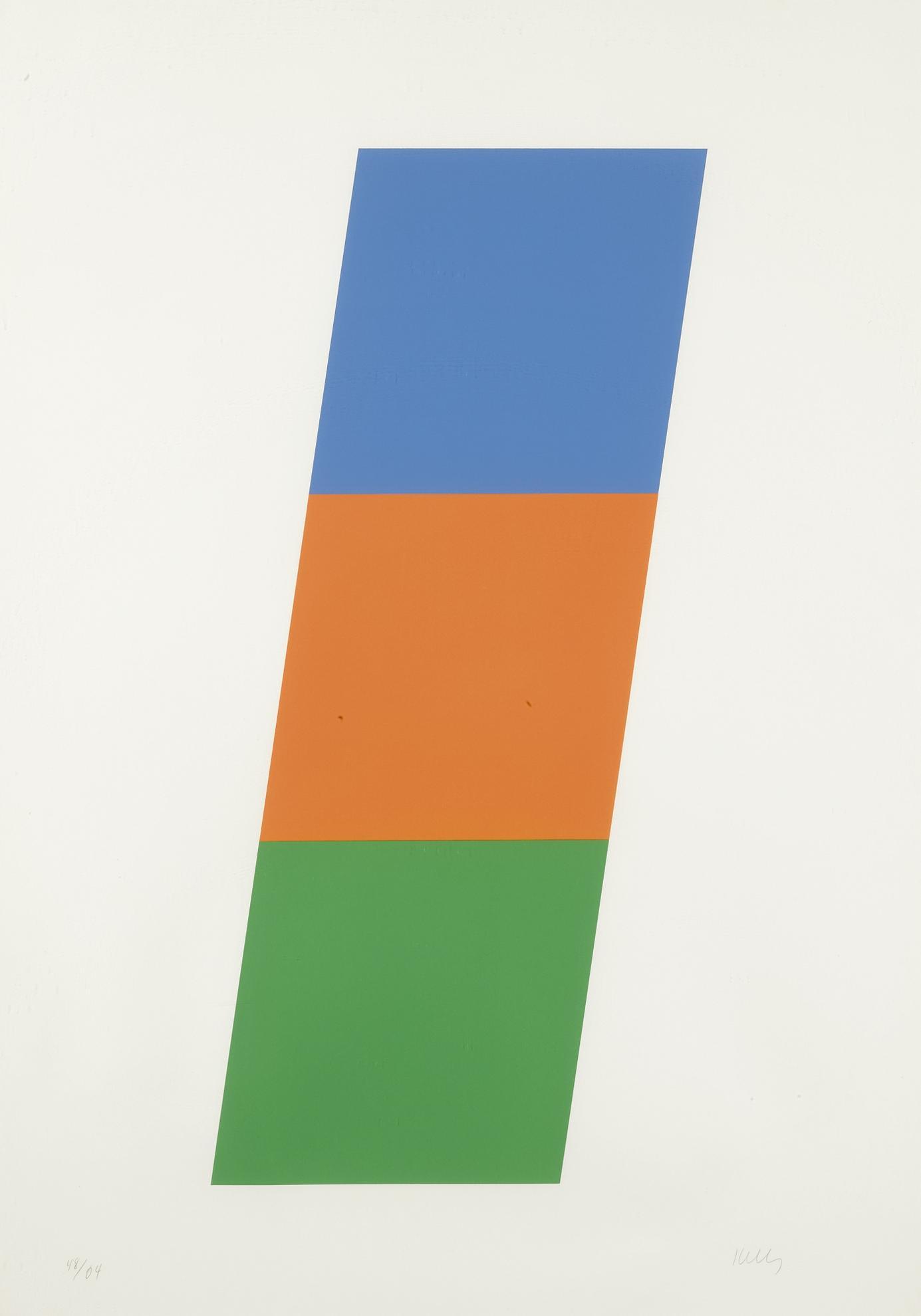 Ellsworth Kelly-Blue Red-Orange Green (Axsom 75)-1971