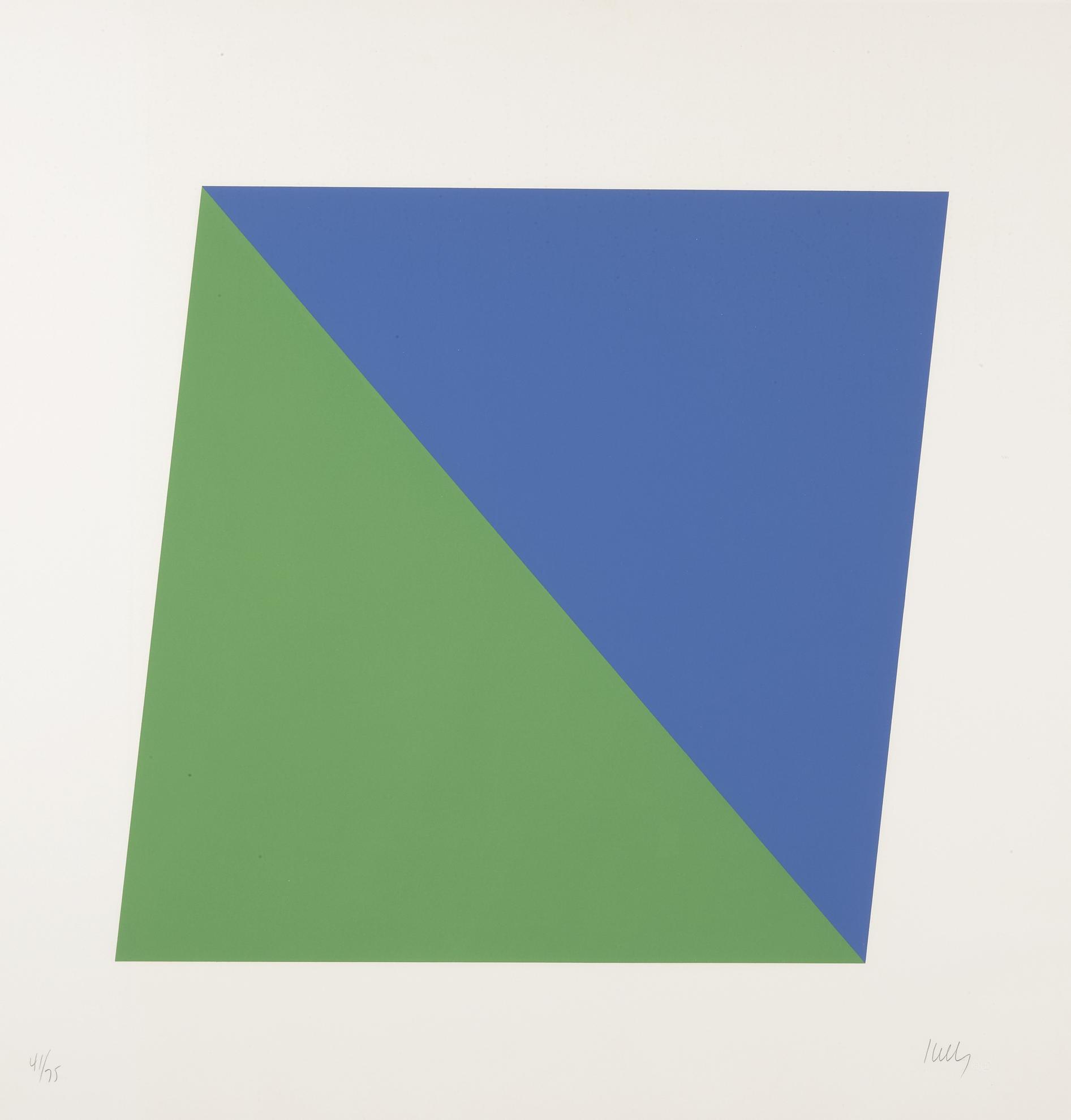 Ellsworth Kelly-Blue Green; Blue Black; And Yellow Black (A. 65, 67, 69)-1970