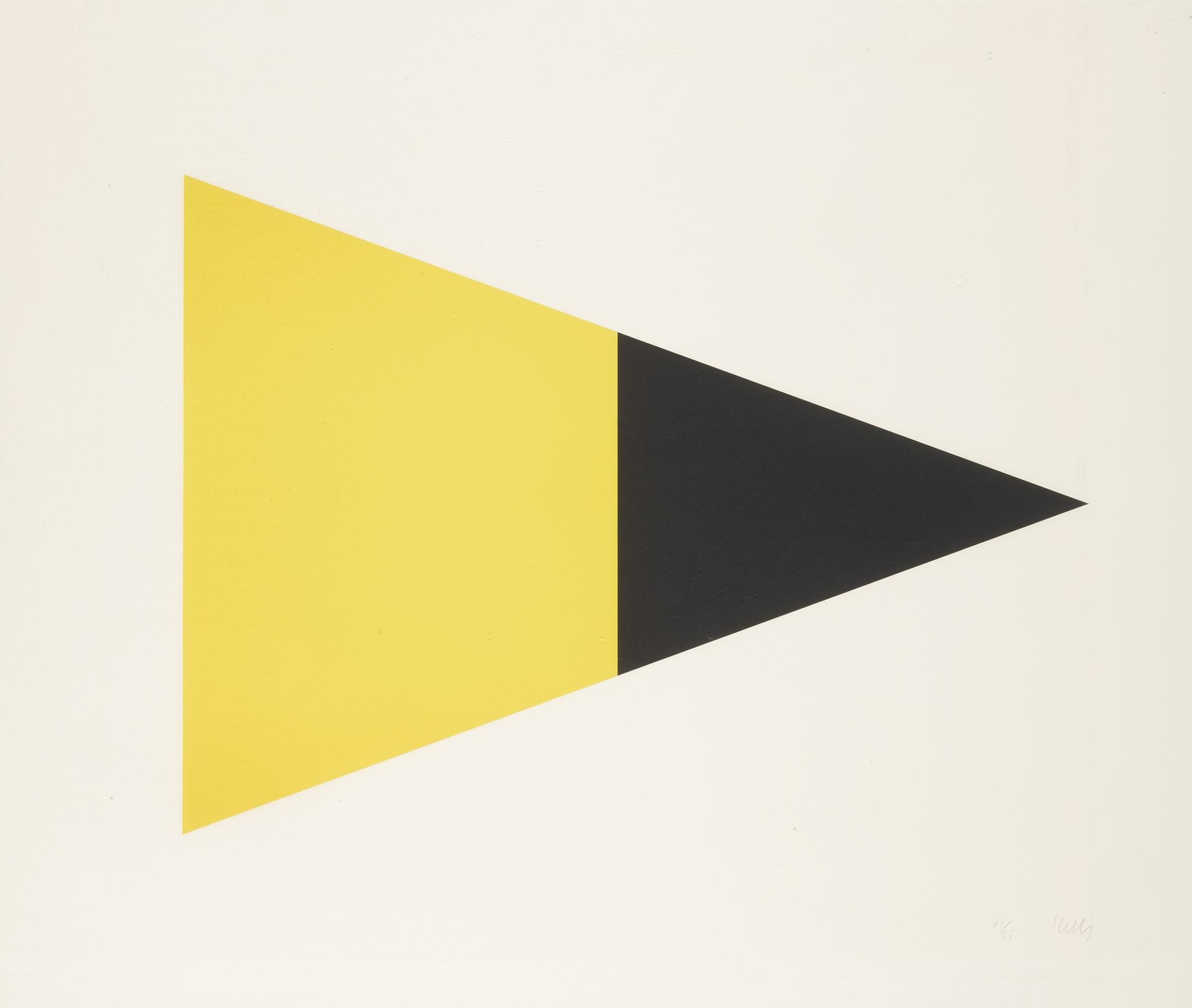Ellsworth Kelly-Black Brown; And Black Yellow (A. 79 And 83)-1972